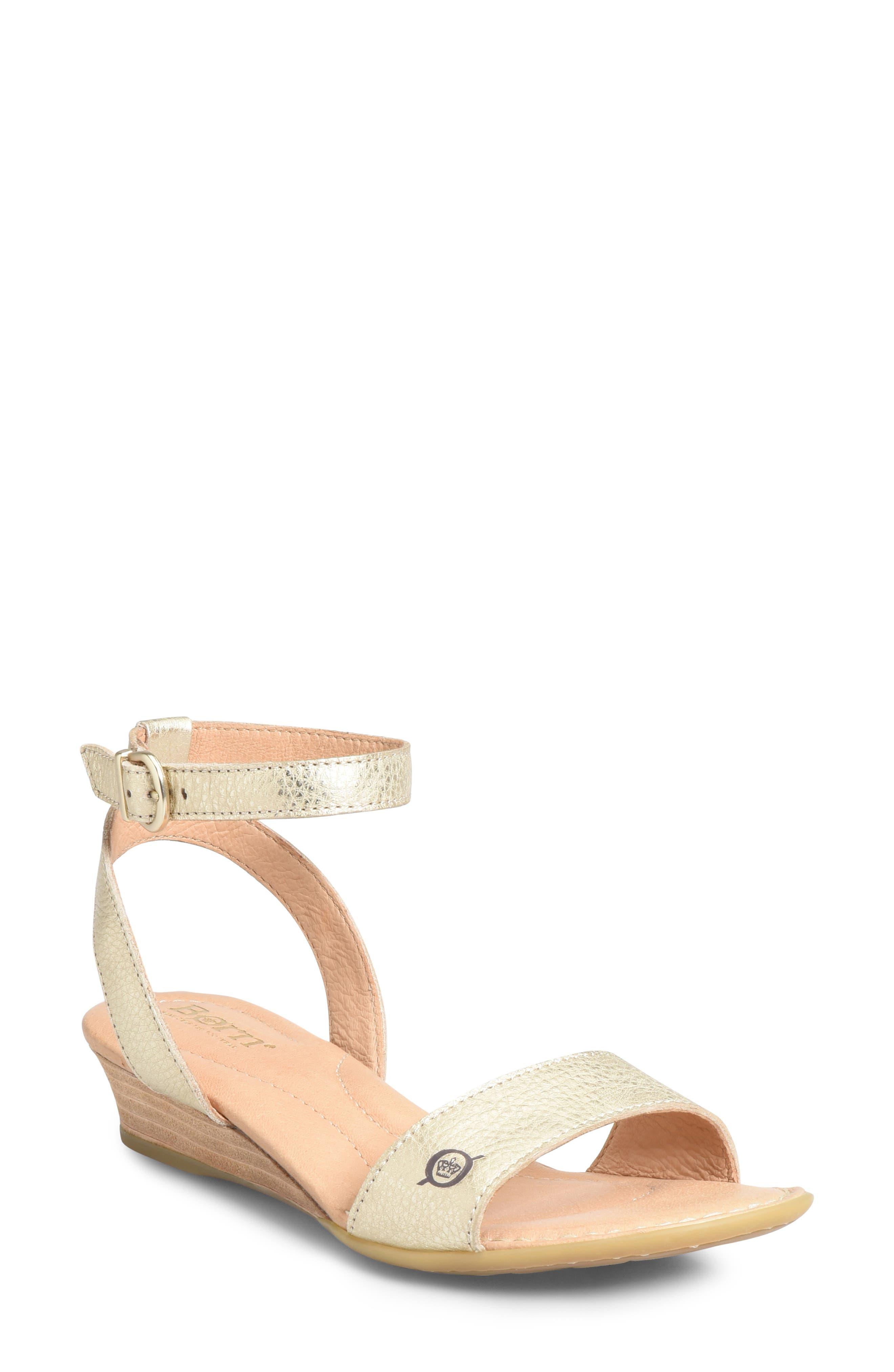B?rn Sevier Wedge Sandal, Metallic