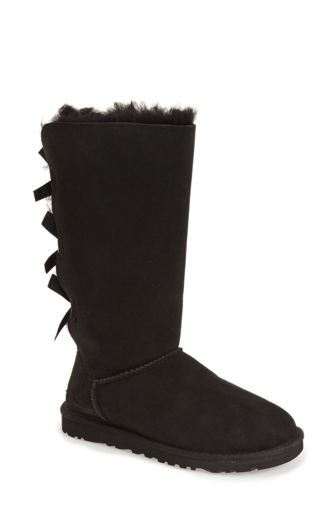 UGG<SUP>®</SUP> 'Bailey Bow' Tall Boot, Main, color, 001