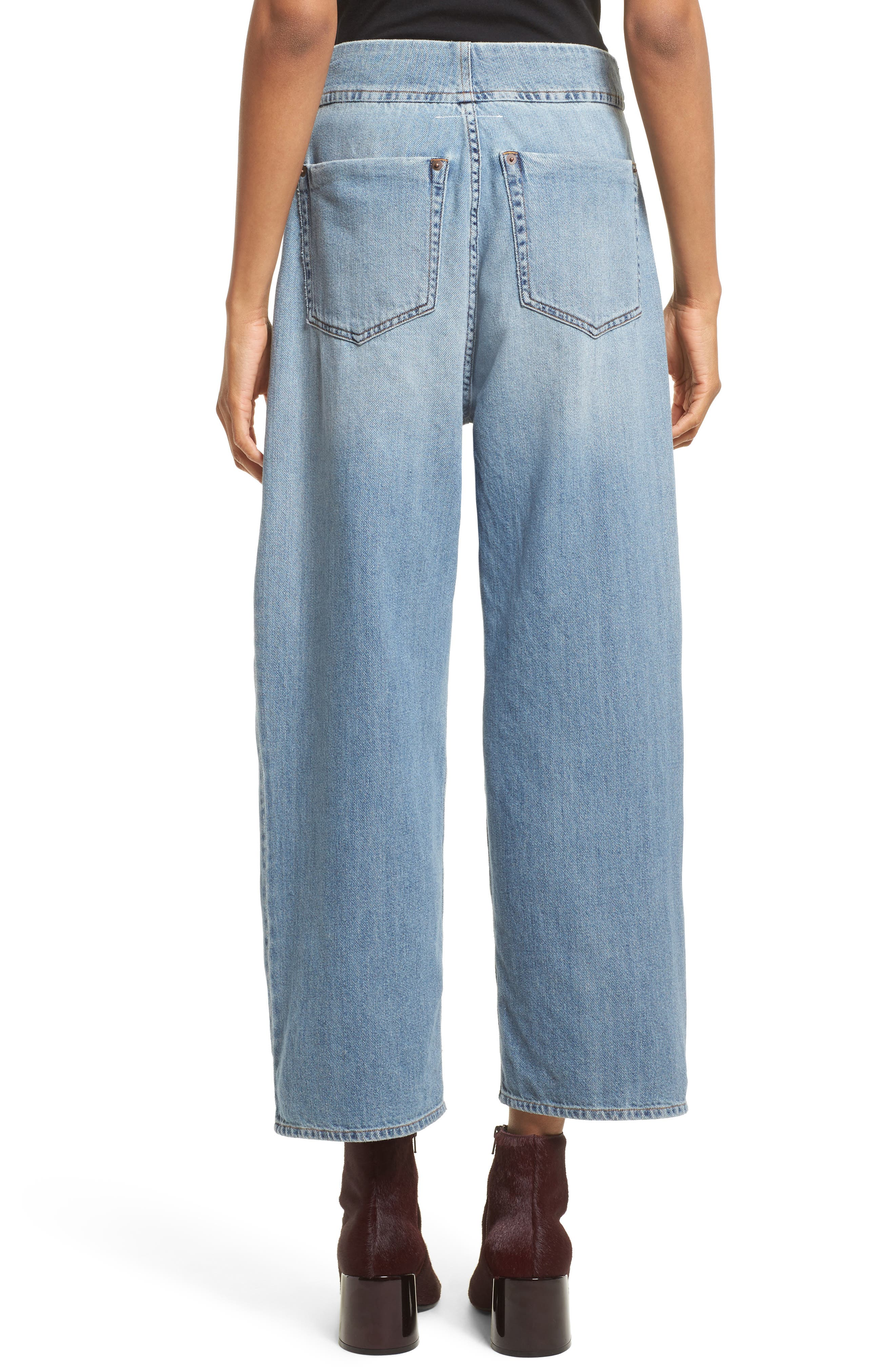 Relaxed Fit Crop Jeans,                             Alternate thumbnail 2, color,                             494