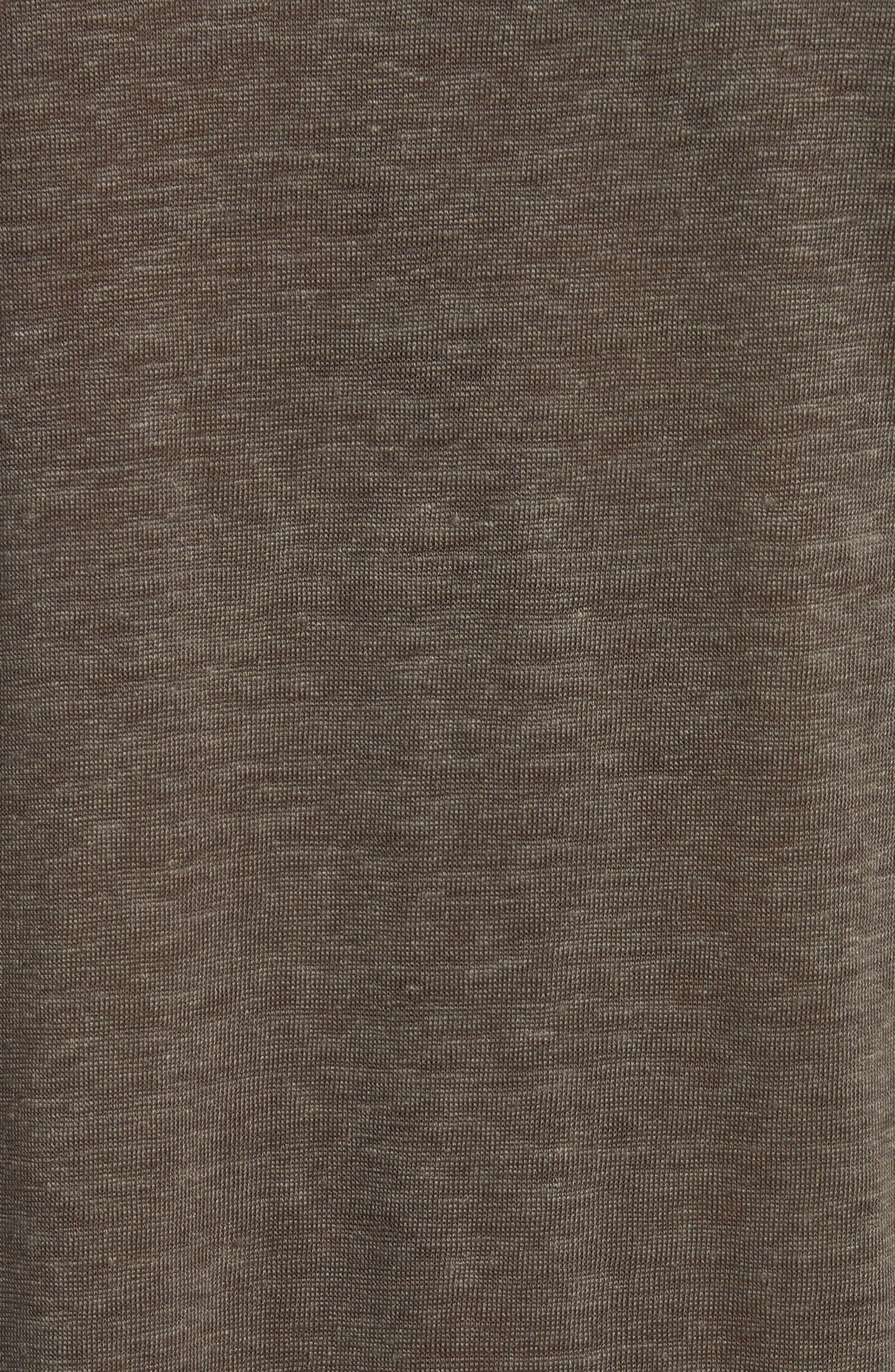 Linen Henley T-Shirt,                             Alternate thumbnail 5, color,                             336