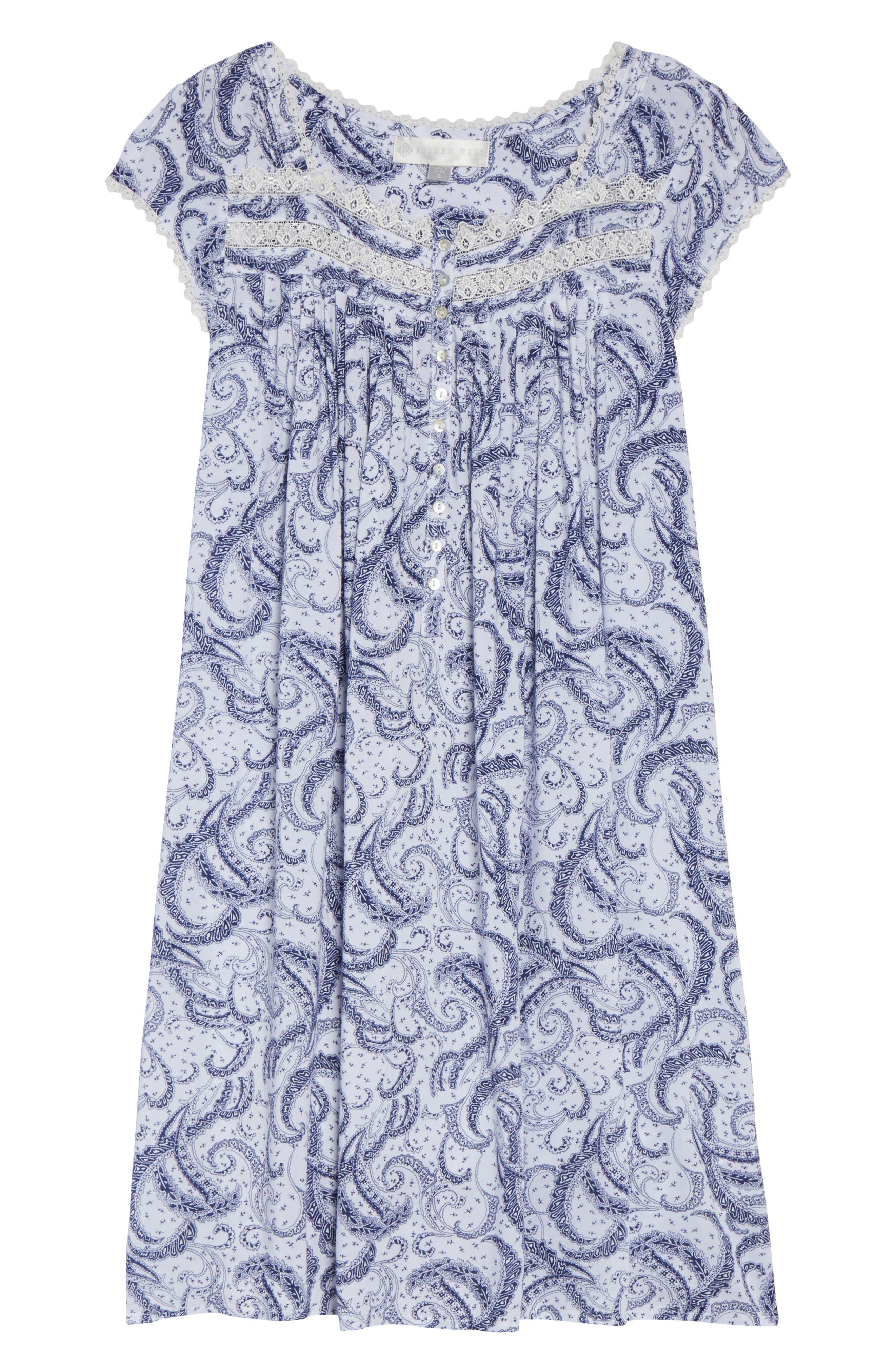 Short Nightgown,                             Alternate thumbnail 6, color,                             100