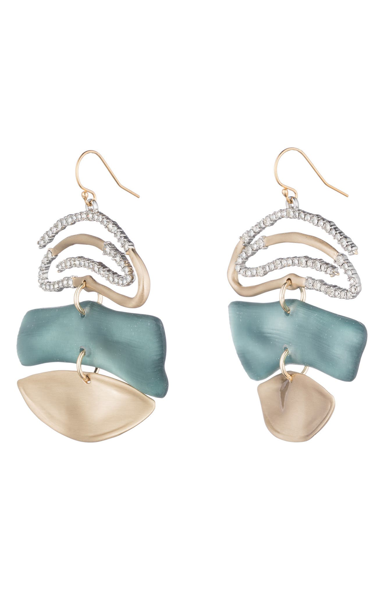 ALEXIS BITTAR,                             Crystal Encrusted Spiral Mobile Earrings,                             Alternate thumbnail 2, color,                             440
