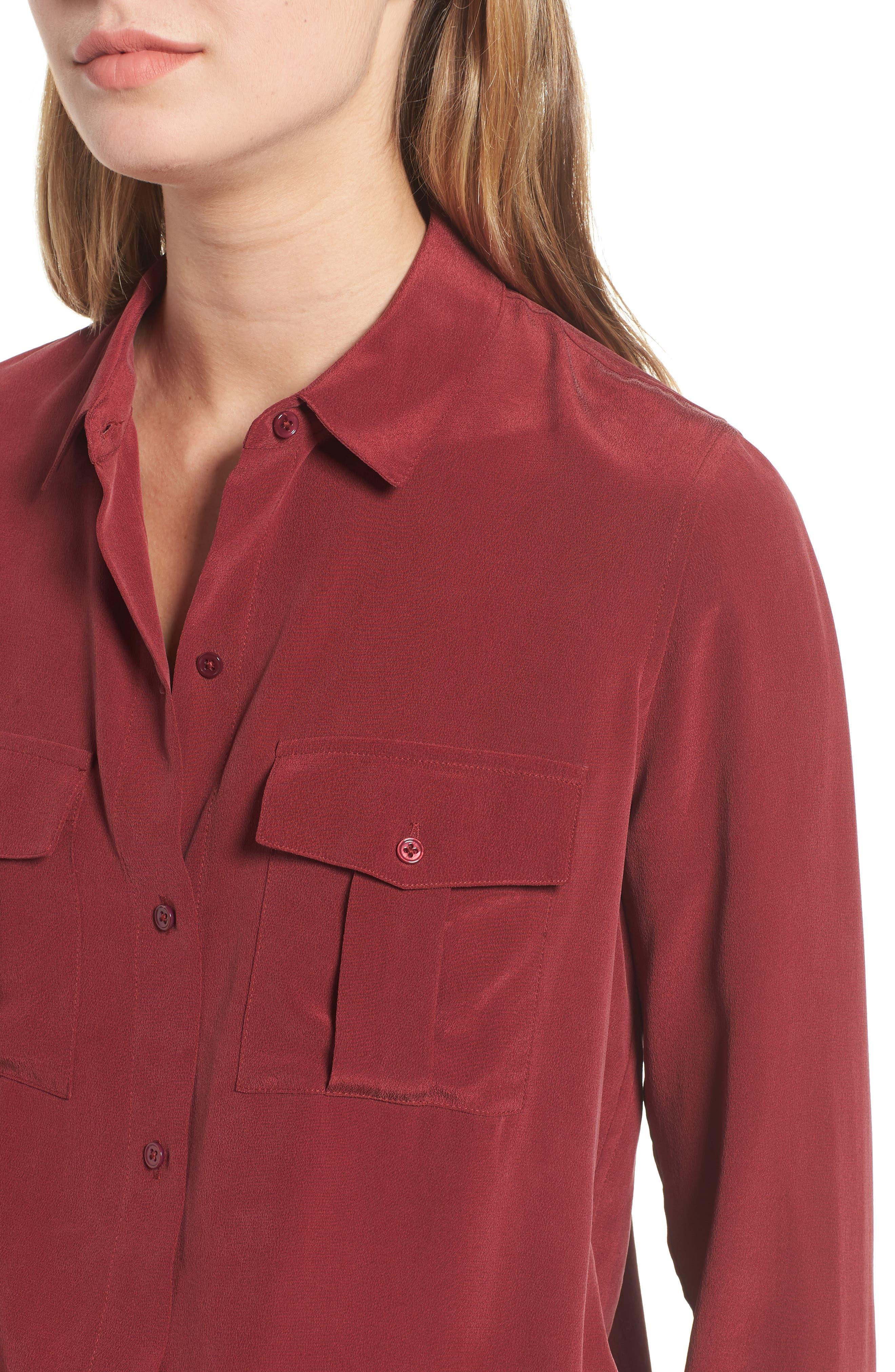 Rhett Silk Shirt,                             Alternate thumbnail 4, color,                             930