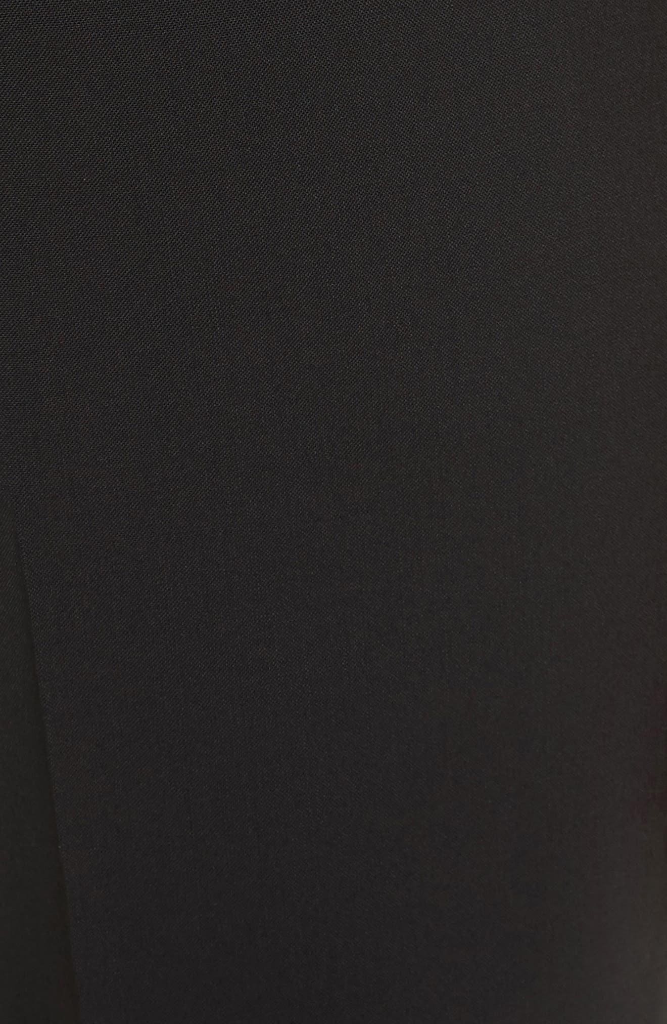 Treeca 2 Good Wool Crop Suit Pants,                             Alternate thumbnail 6, color,                             BLACK