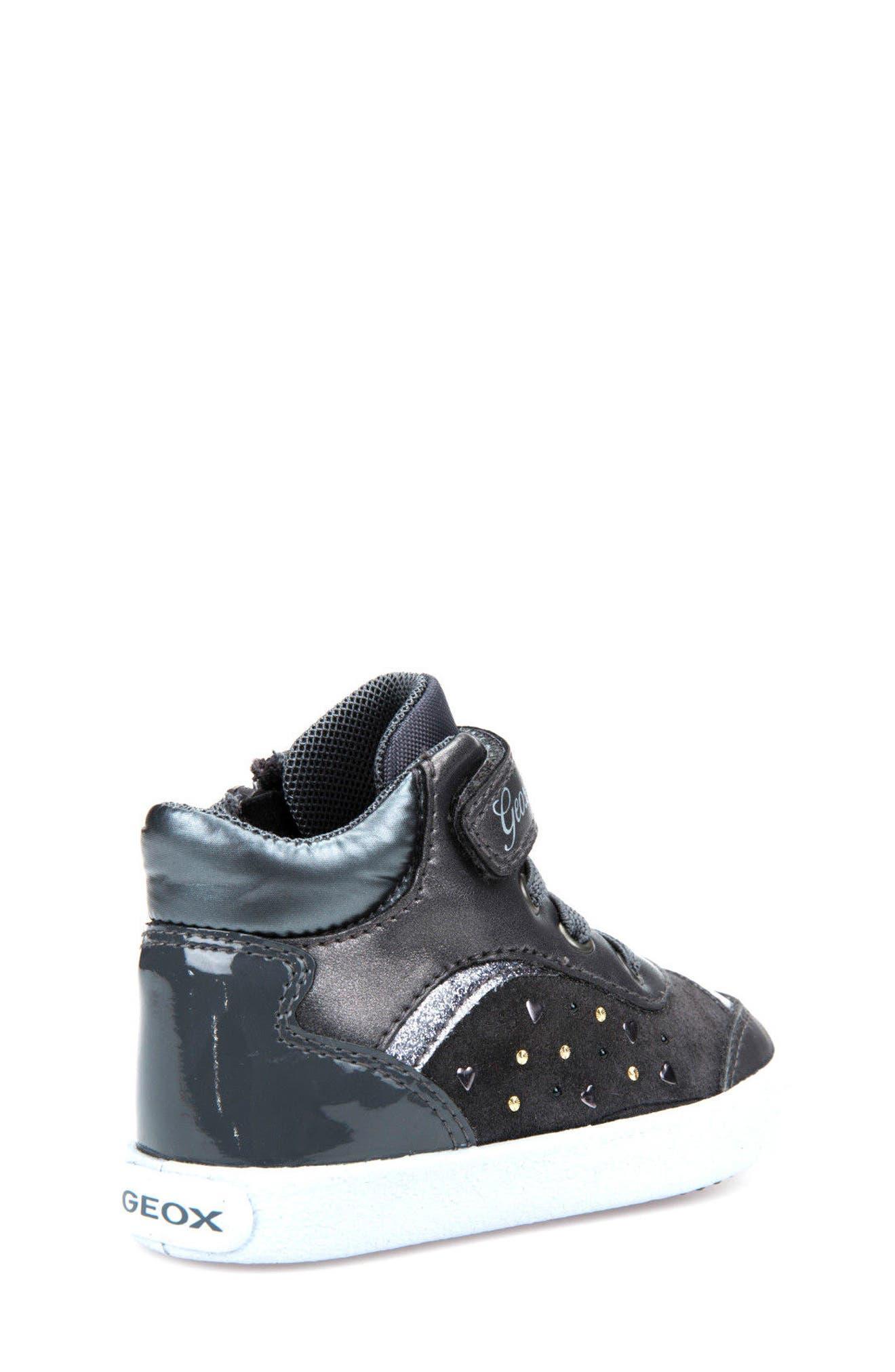 Kiwi Girl Studded High Top Sneaker,                             Alternate thumbnail 8, color,