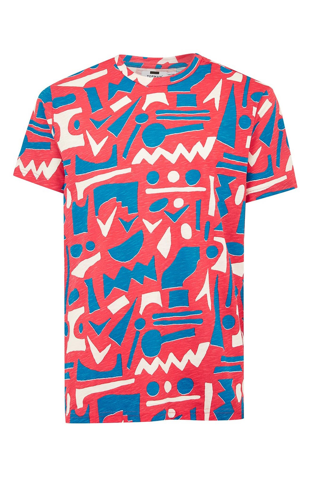 Geo Print T-Shirt,                             Alternate thumbnail 4, color,                             650