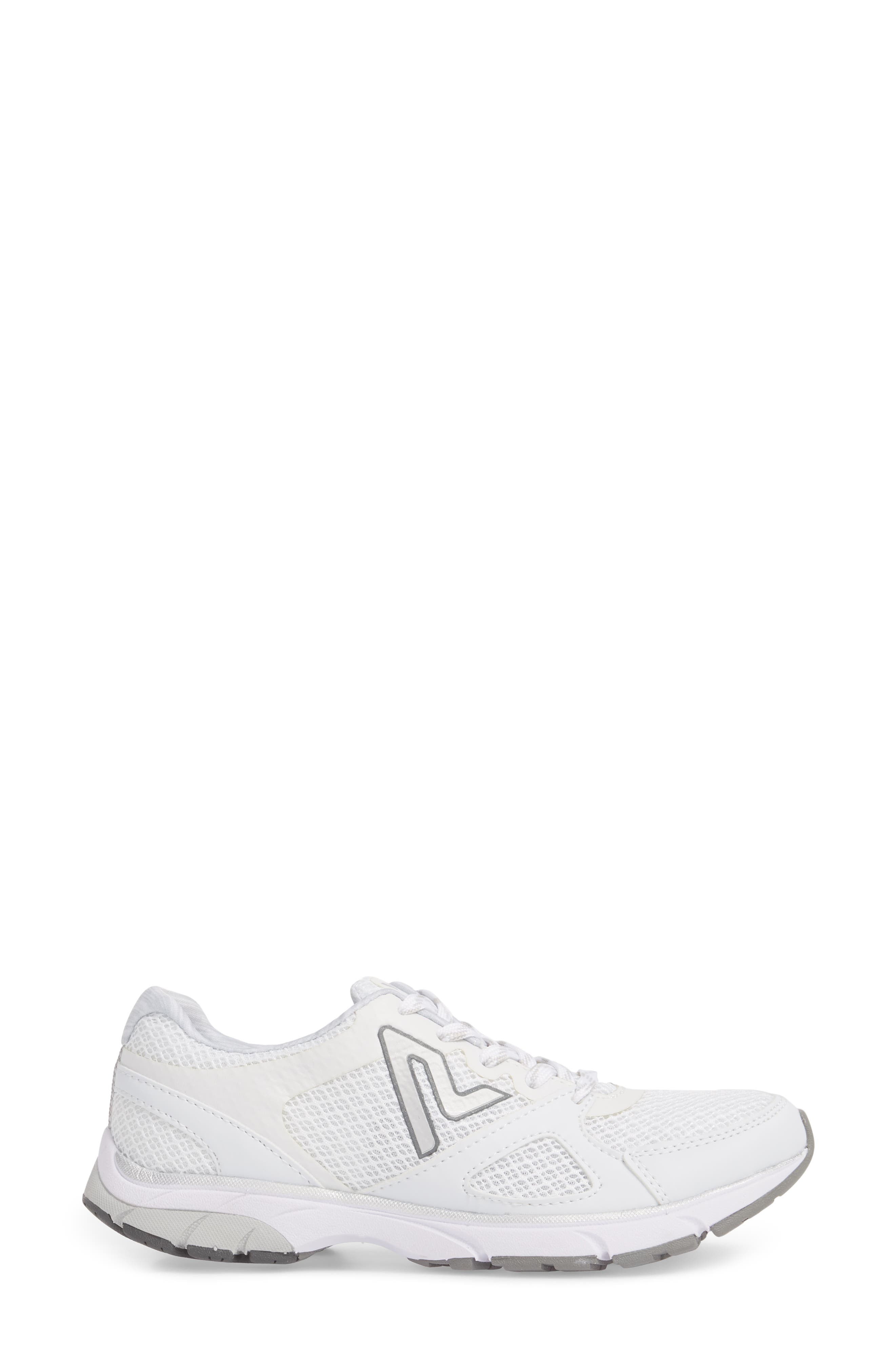 'Satima' Sneaker,                             Alternate thumbnail 3, color,                             WHITE FABRIC