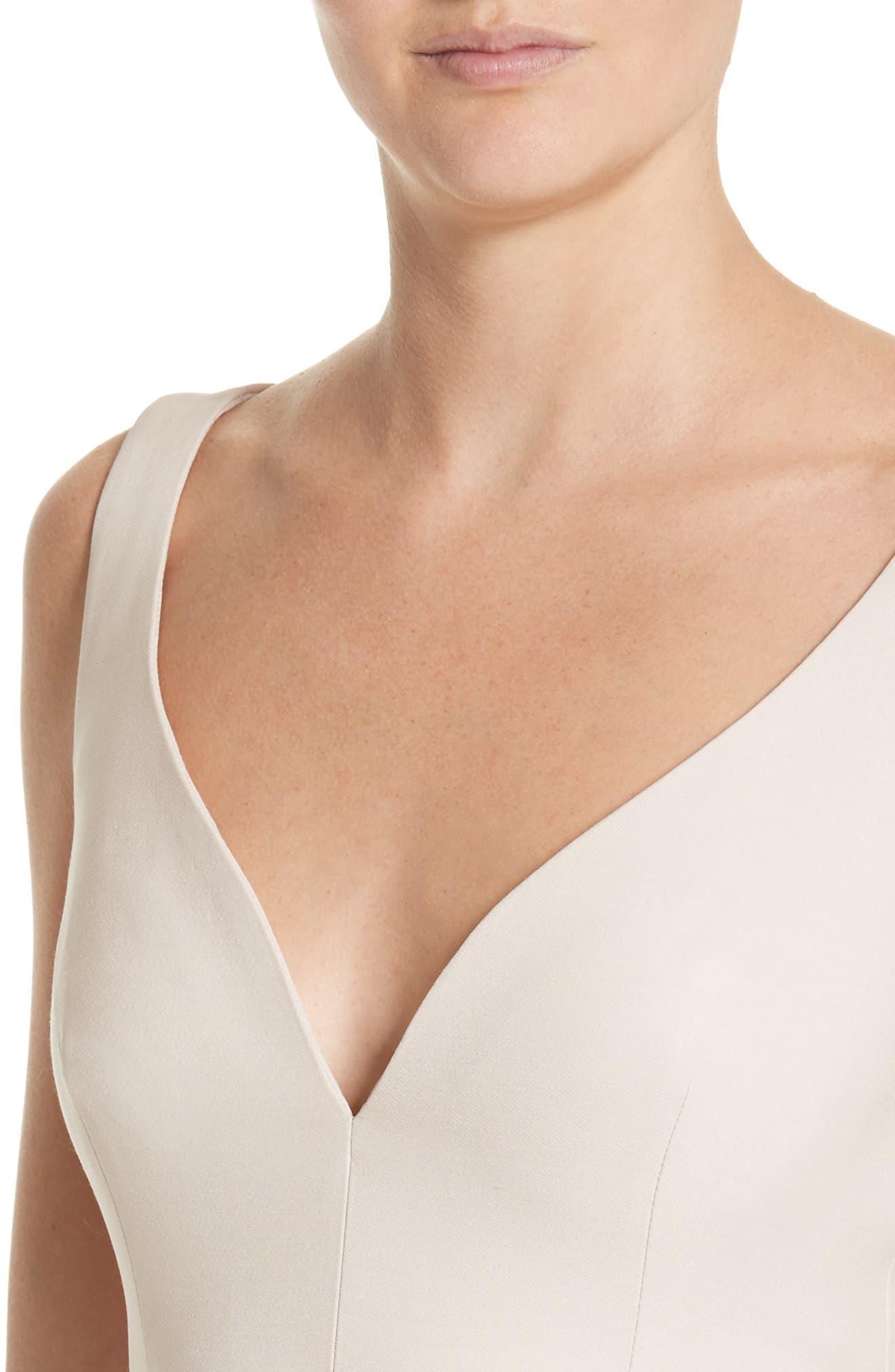 Silk Asymmetrical Dress,                             Alternate thumbnail 4, color,                             020