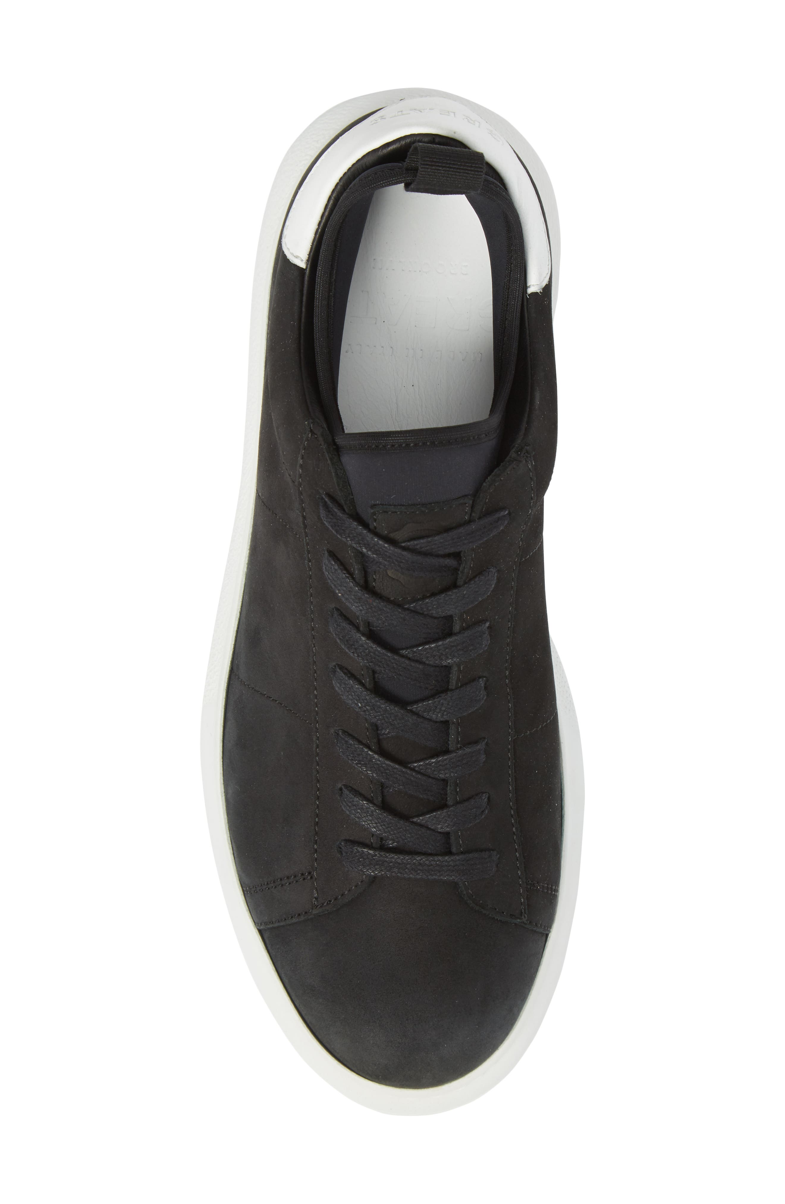 Alta Low Top Sneaker,                             Alternate thumbnail 5, color,                             BLACK NUBUCK LEATHER