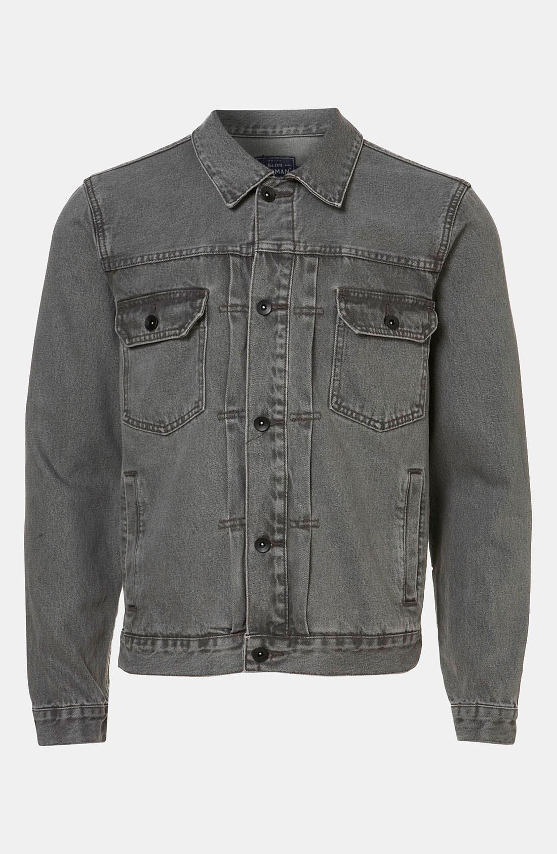 'Dyder' Denim Jacket,                             Alternate thumbnail 6, color,