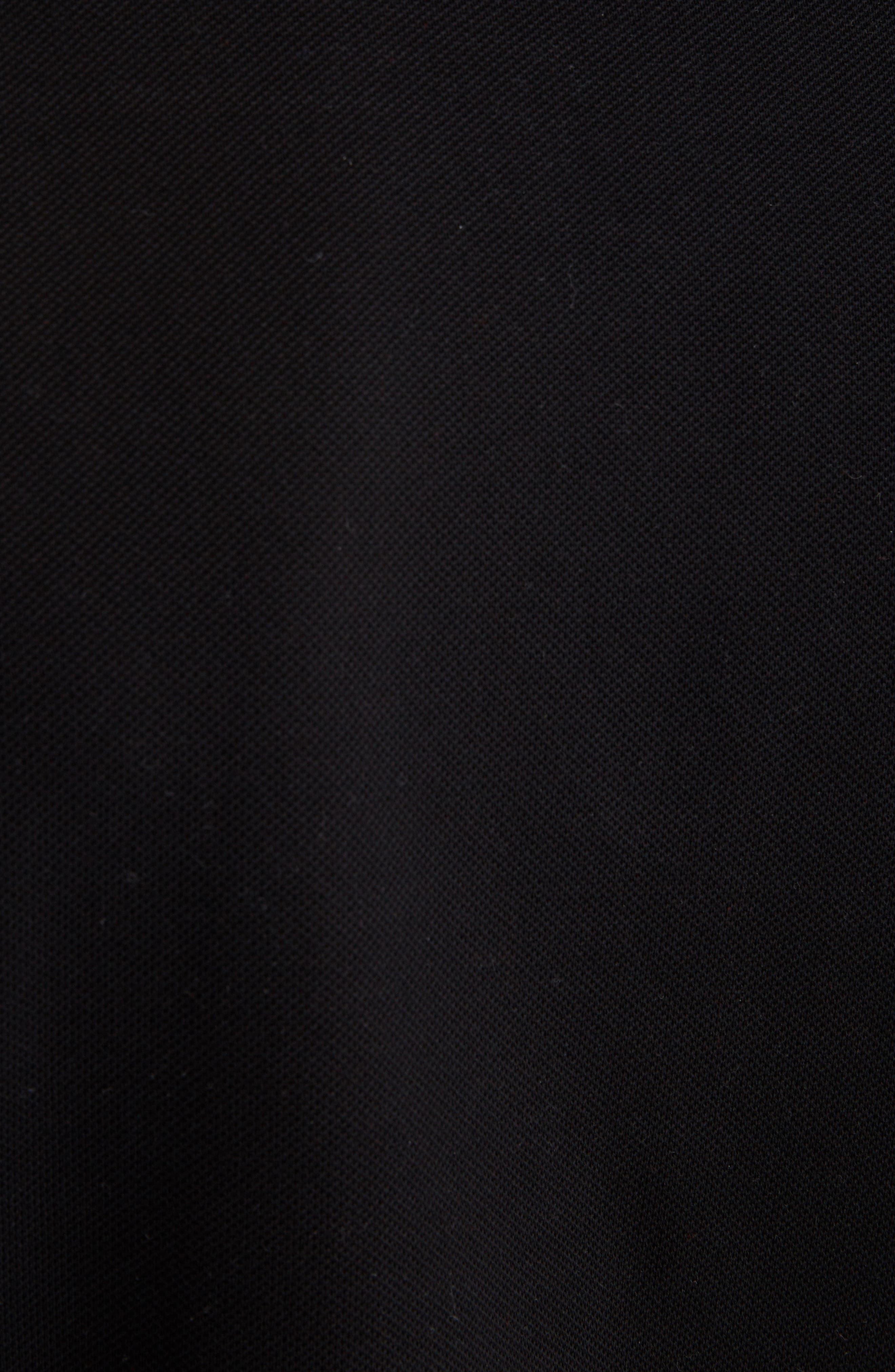 Upside Down Logo Piqué Polo,                             Alternate thumbnail 5, color,                             BLACK