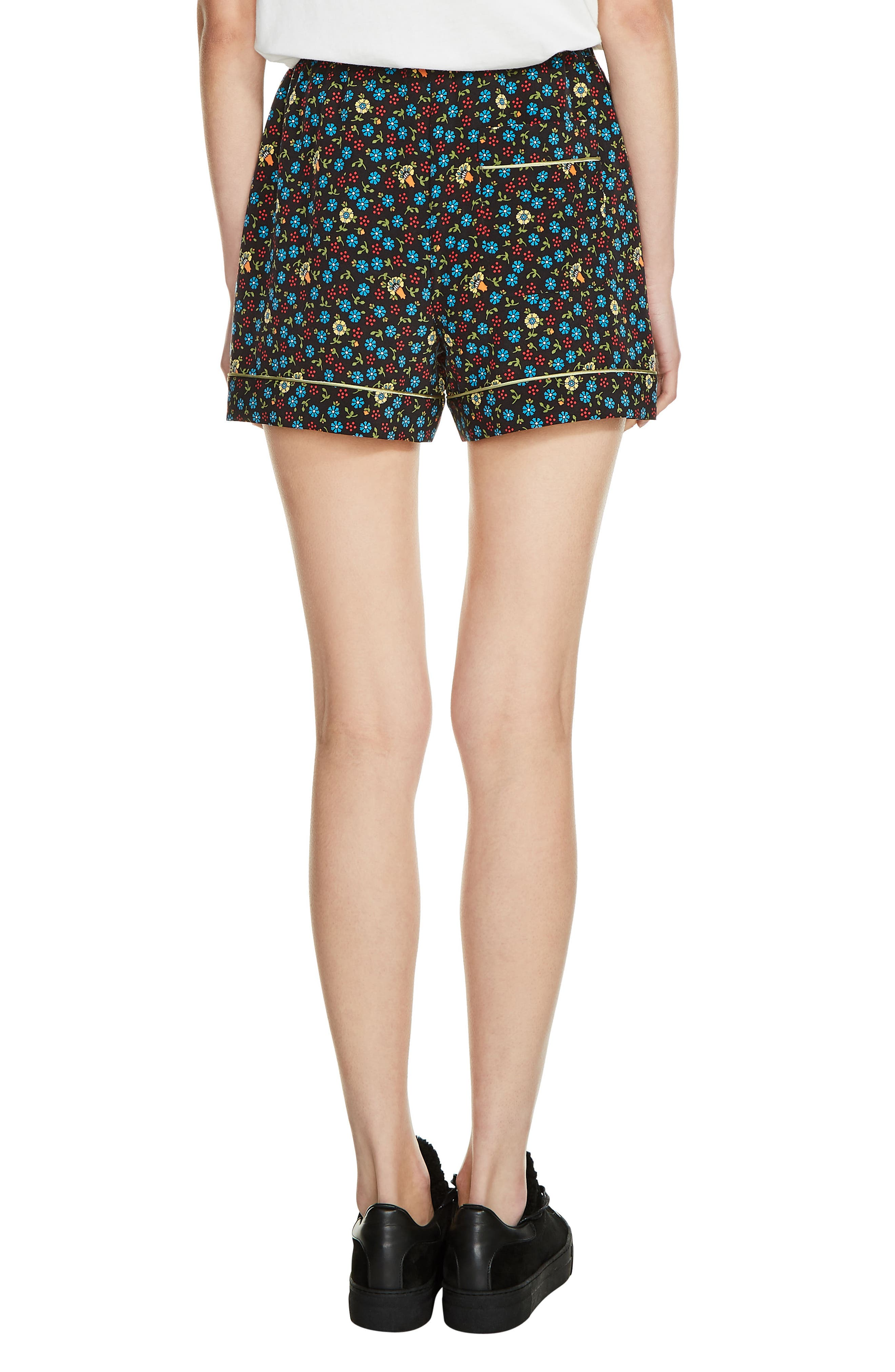 Floral Print Shorts,                             Alternate thumbnail 2, color,                             400