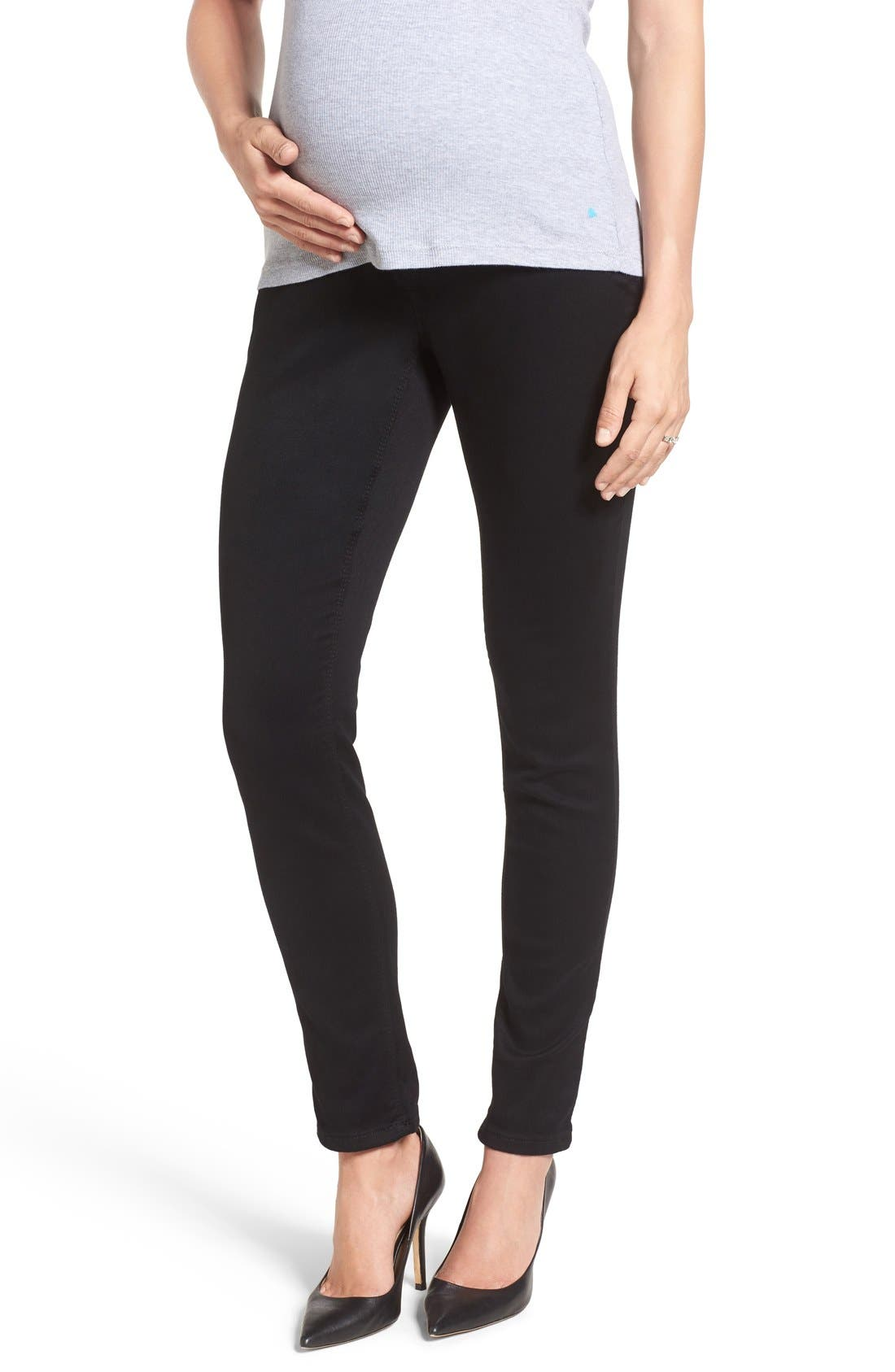 'Ankle Biter' Over the Bump Rolled Cuff Maternity Skinny Jeans,                             Main thumbnail 2, color,