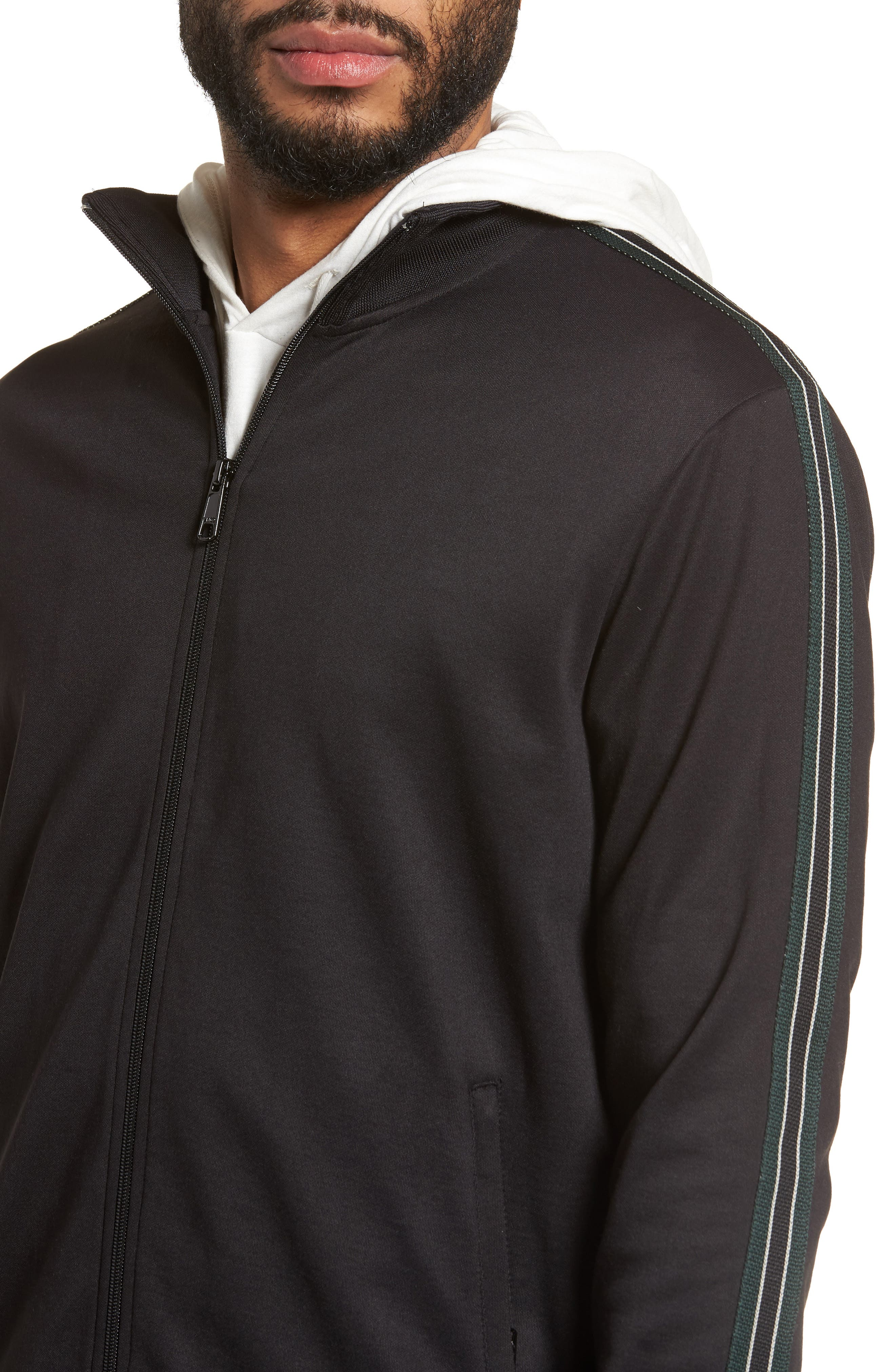 Regular Fit Track Jacket,                             Alternate thumbnail 4, color,                             001