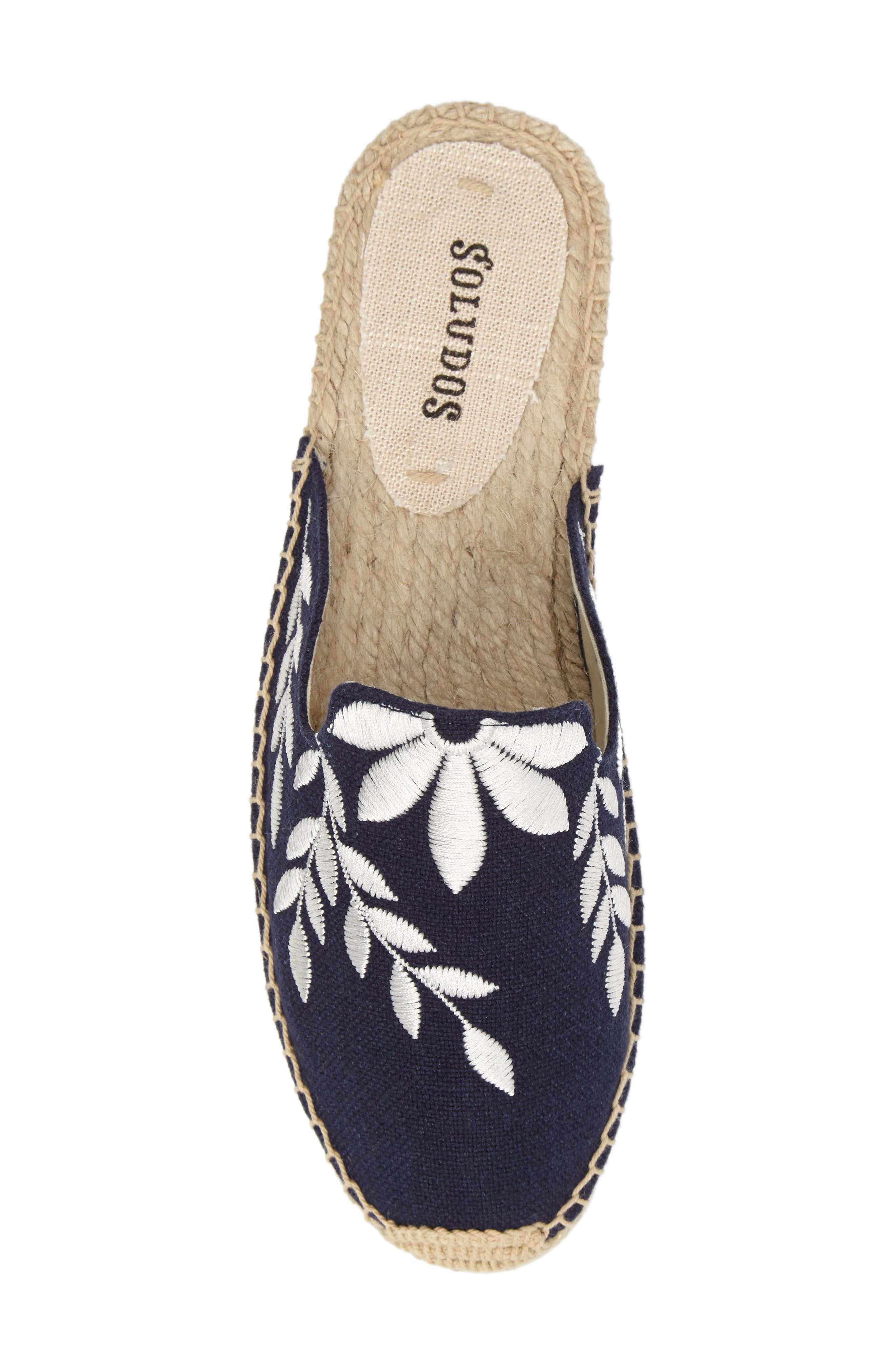 Embroidered Espadrille Mule,                             Alternate thumbnail 5, color,