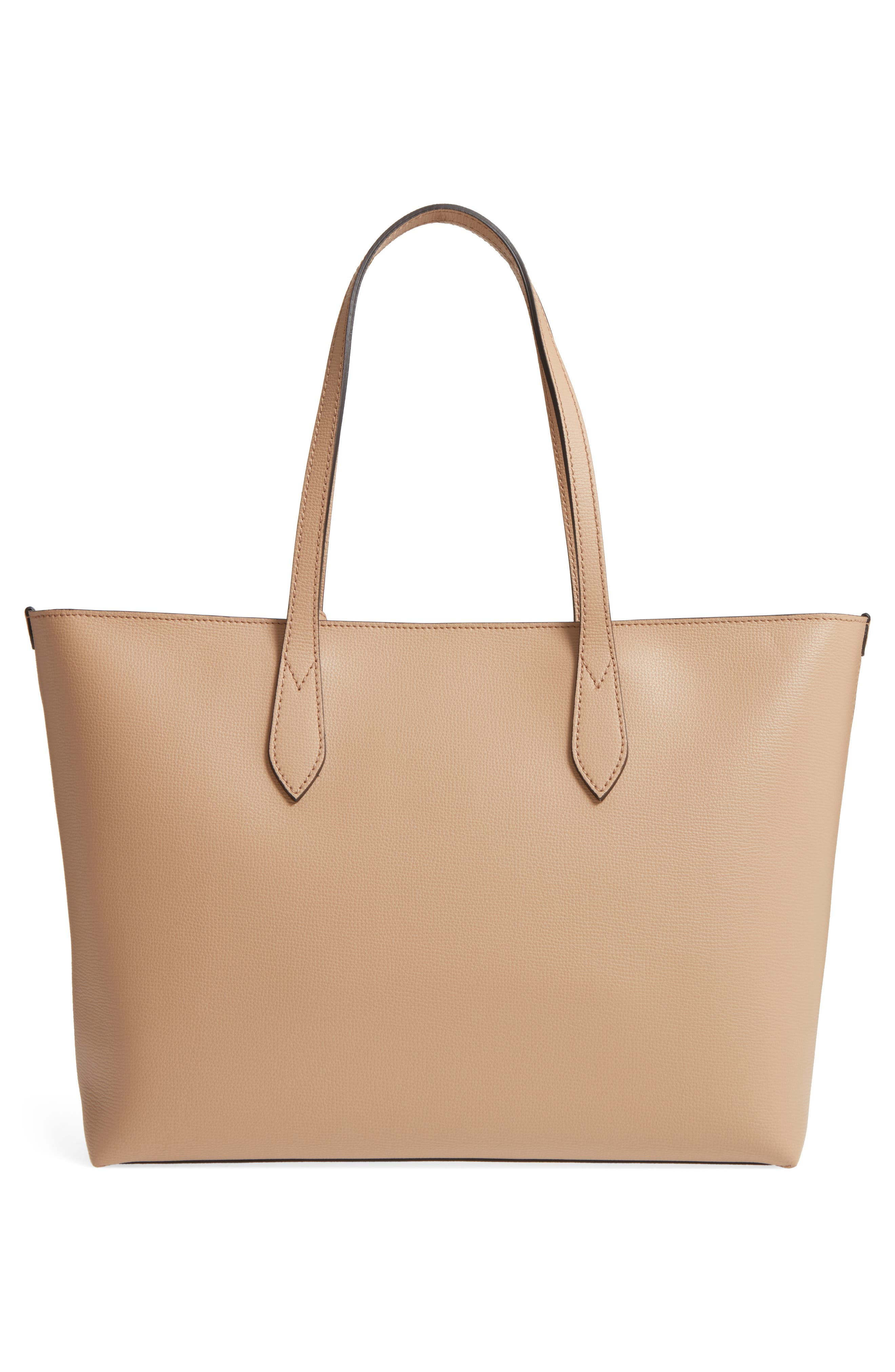 Calfskin Leather Tote,                             Alternate thumbnail 3, color,                             267