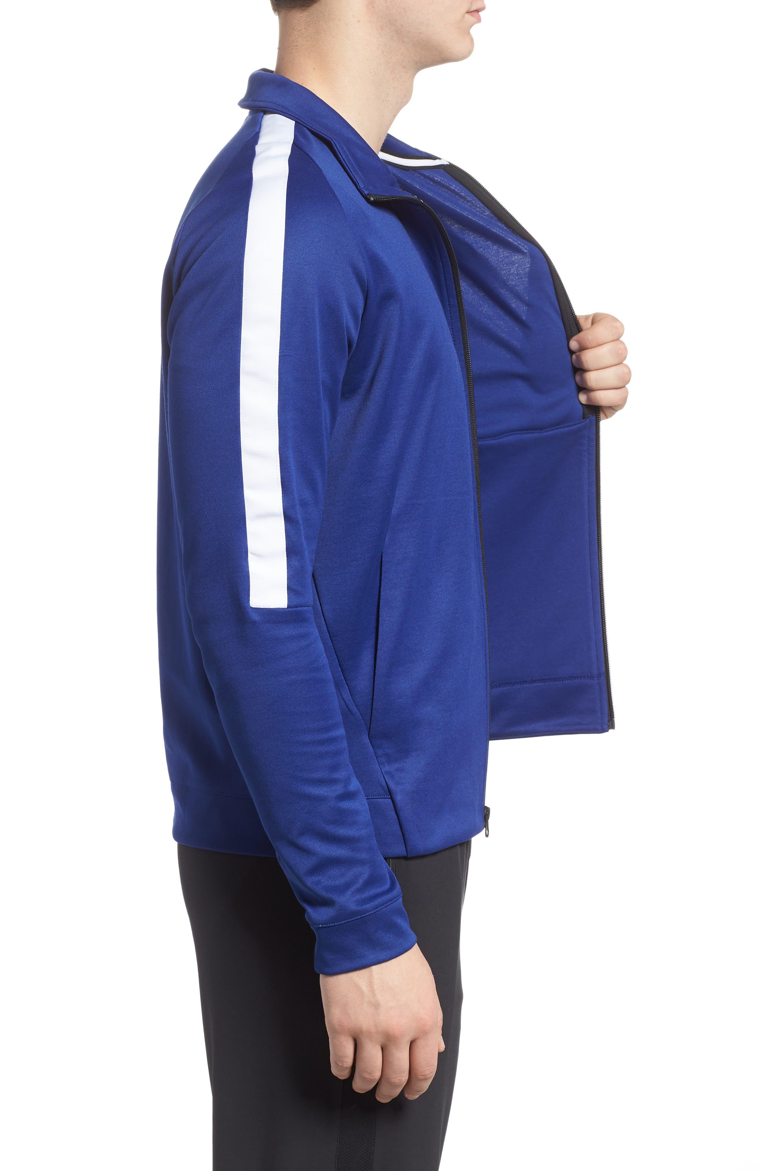 Sportswear Zip Track Jacket,                             Alternate thumbnail 3, color,                             DEEP ROYAL BLUE/ WHITE/ BLACK
