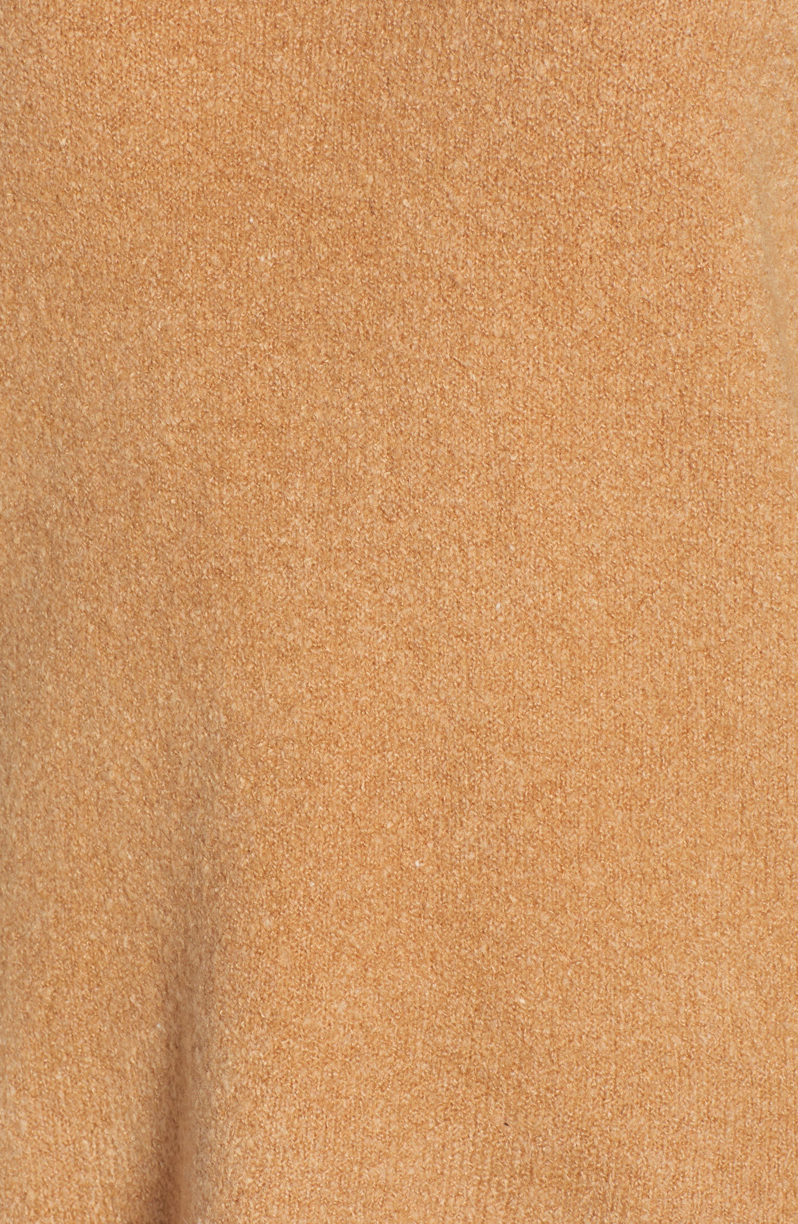 Cowl Neck Sweater,                             Alternate thumbnail 5, color,                             CAMEL MEL