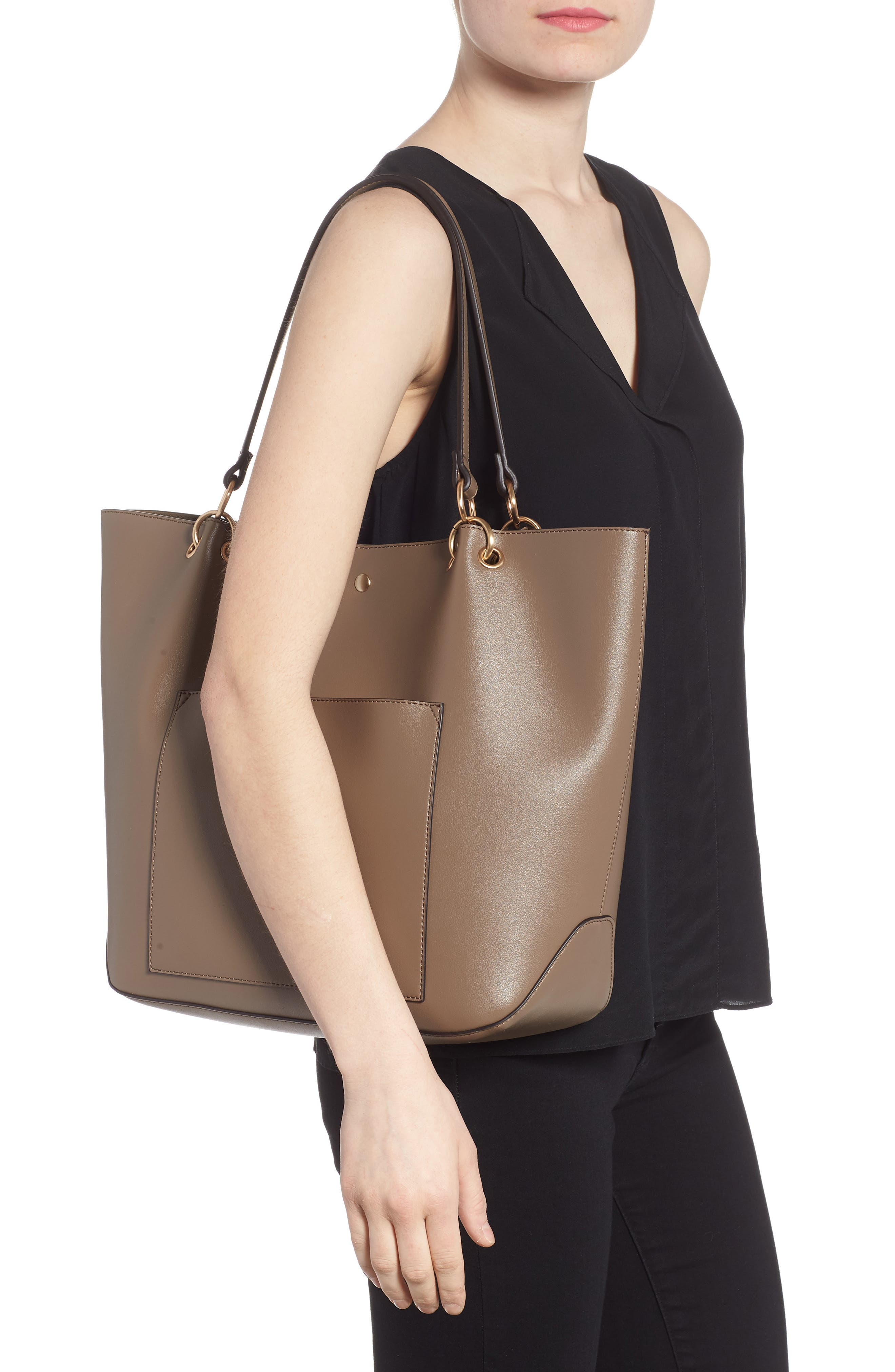 Fronto Faux Leather Tote,                             Alternate thumbnail 2, color,                             281