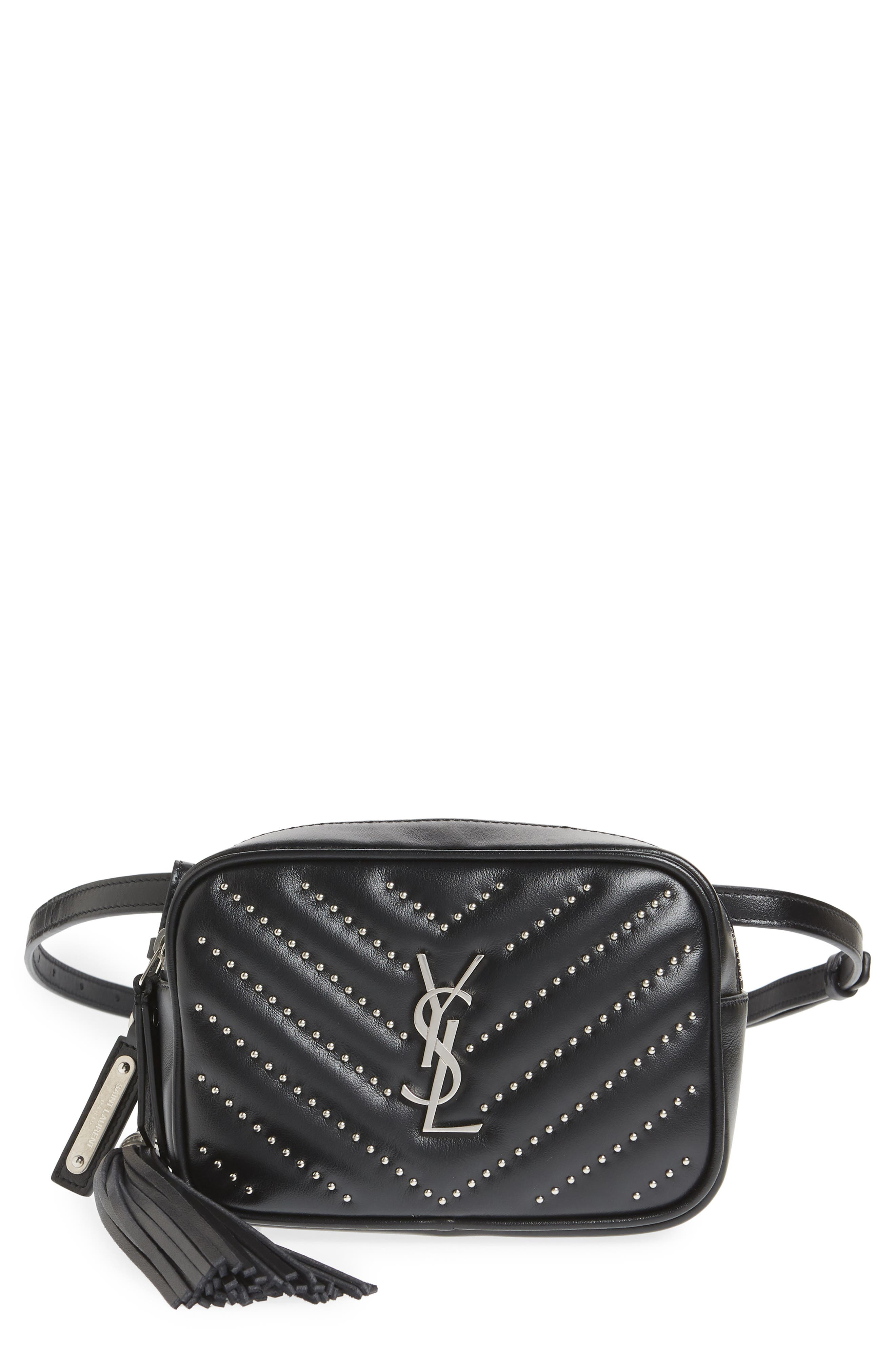 Studded Quilted Micro Belt Bag,                             Main thumbnail 1, color,