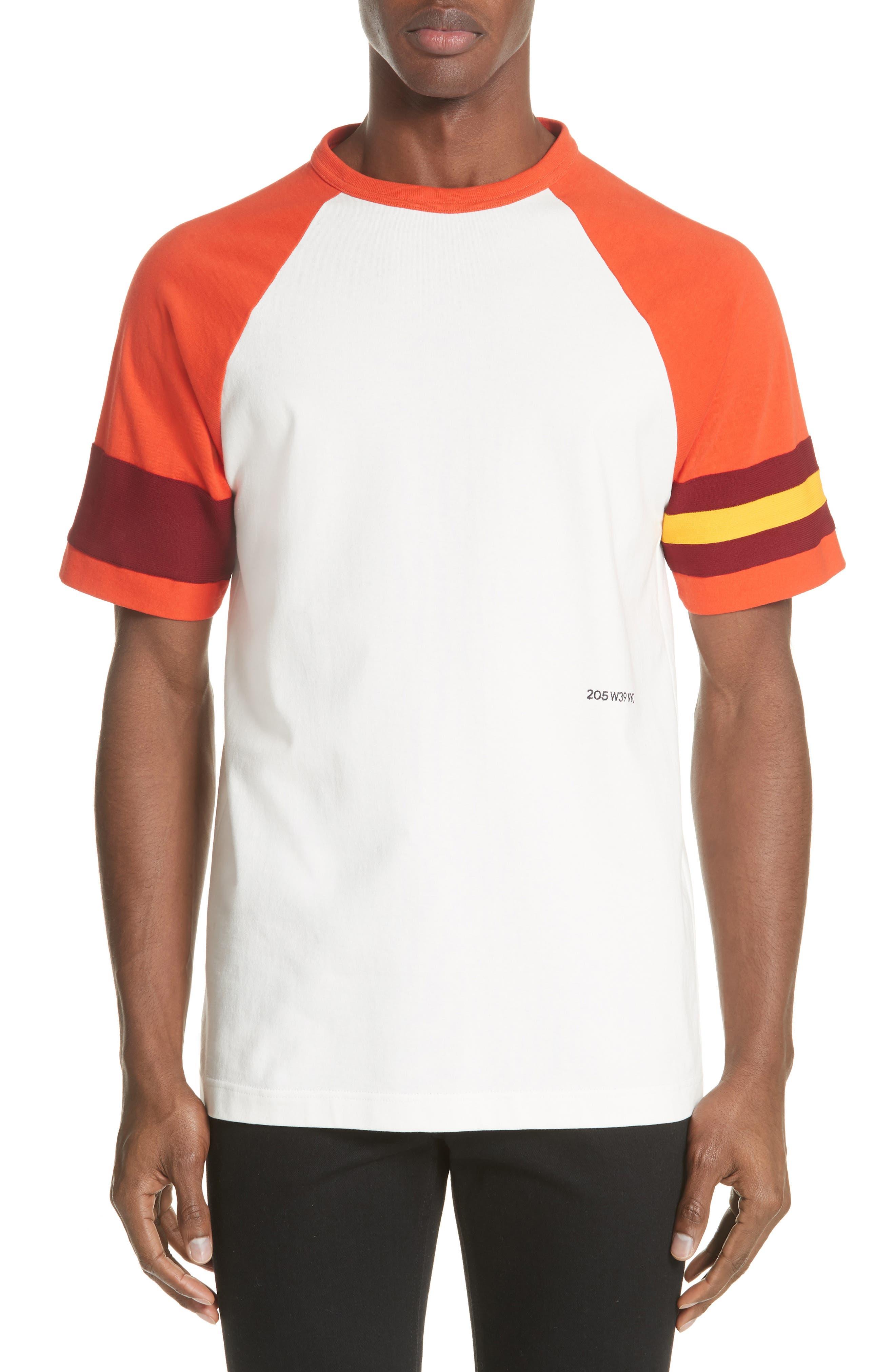 Jersey Varsity T-Shirt,                         Main,                         color, WHITE