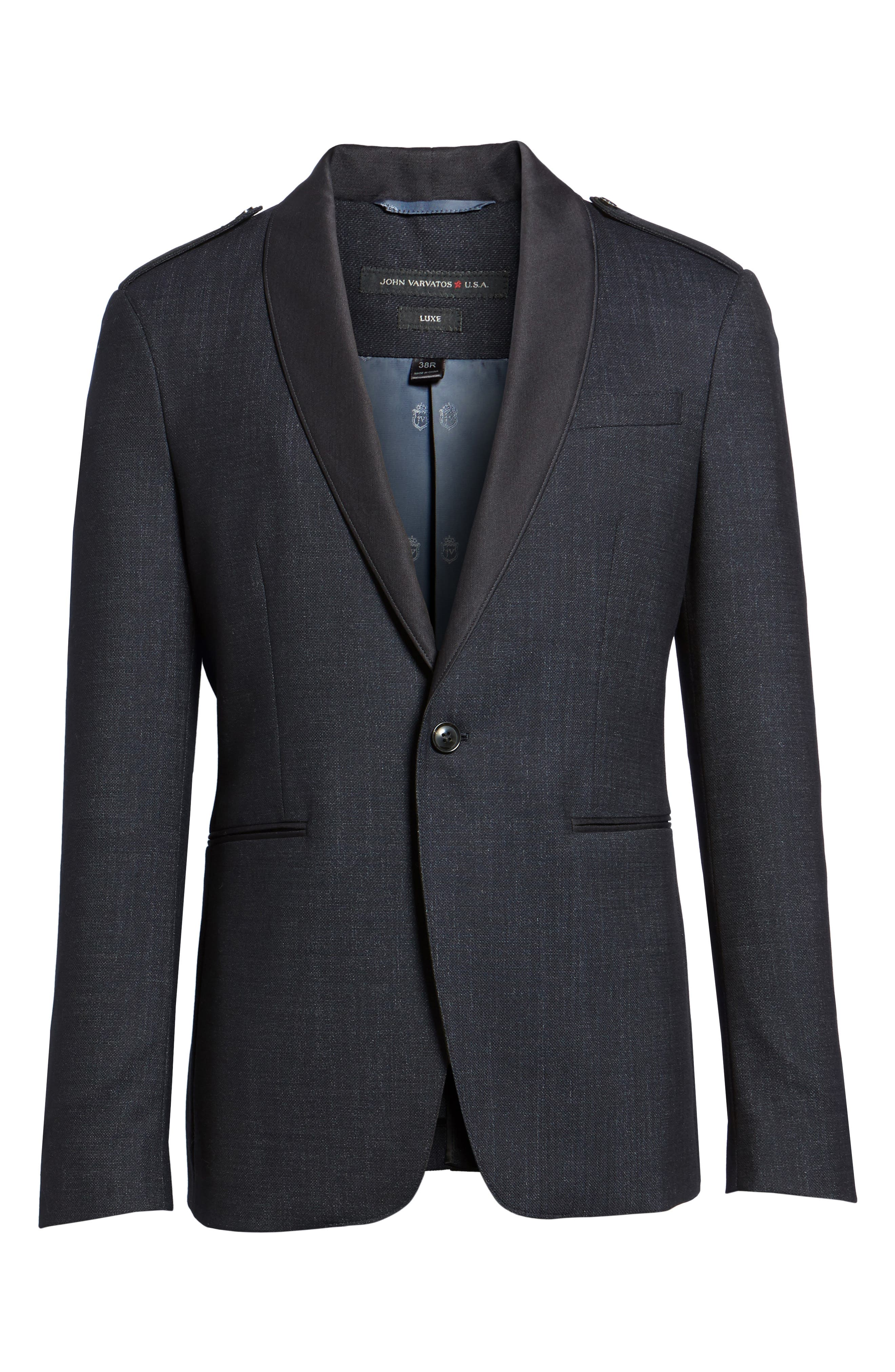 Shawl Collar Wool Blazer,                             Alternate thumbnail 5, color,                             414