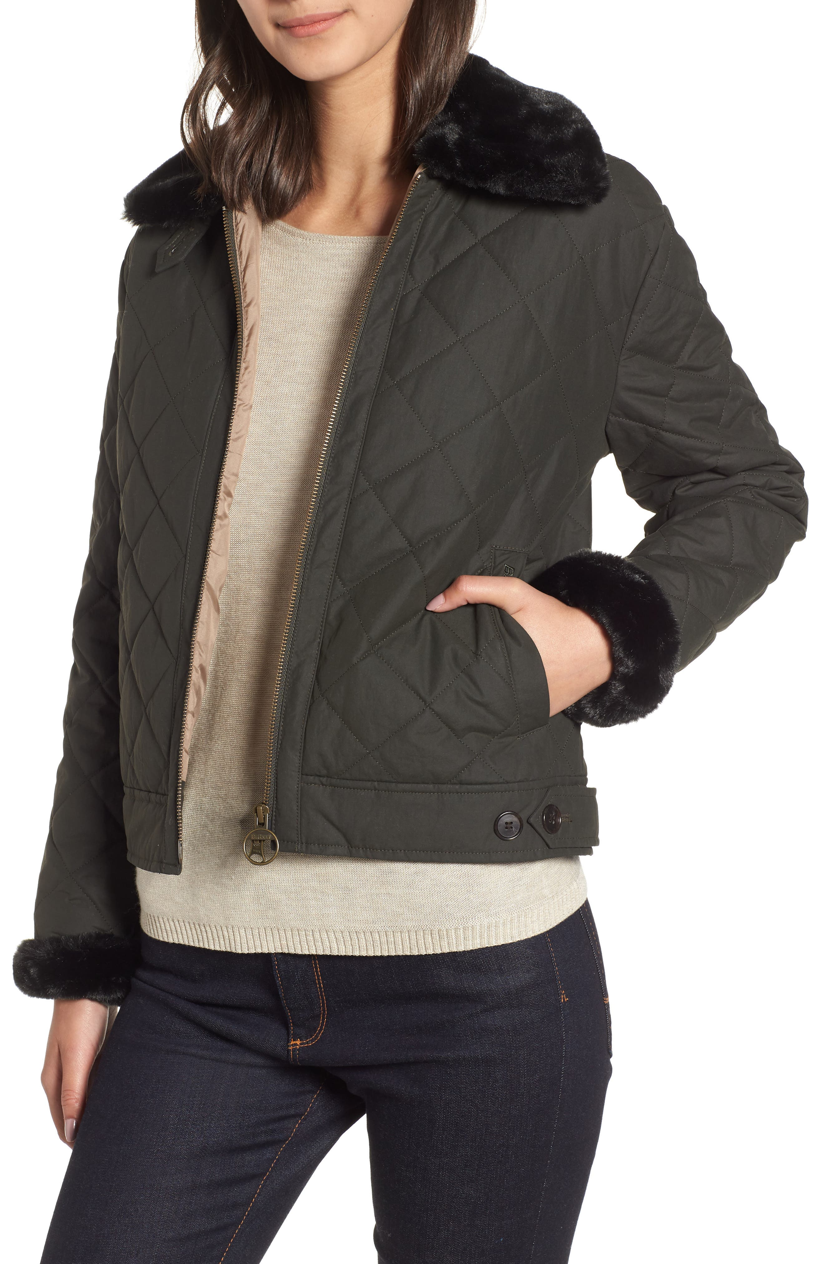 Barbour Tetbury Quilted Jacket, US / 10 UK - Green