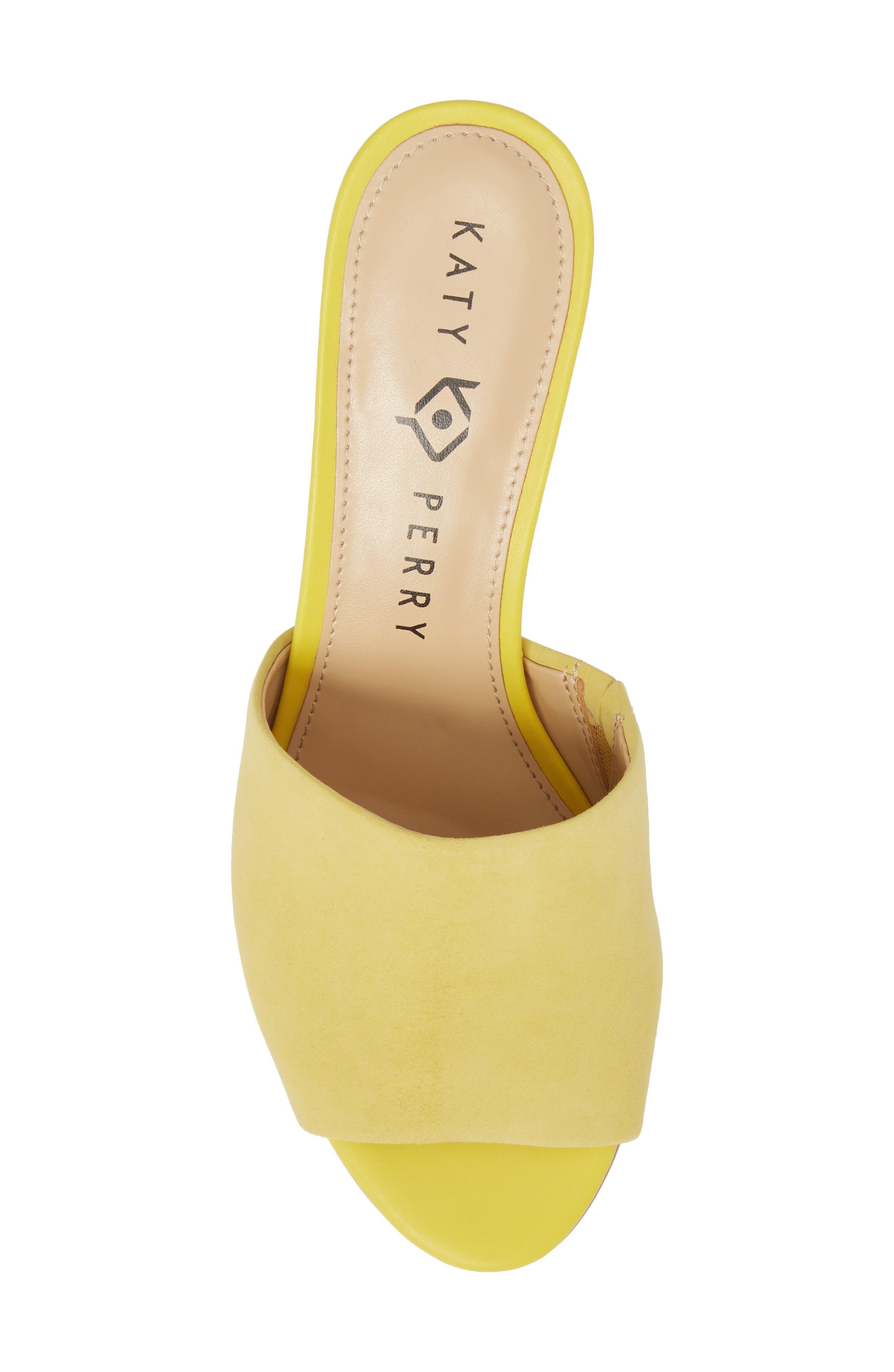 The Kaitlynn Slide Sandal,                             Alternate thumbnail 5, color,                             YELLOW SUEDE