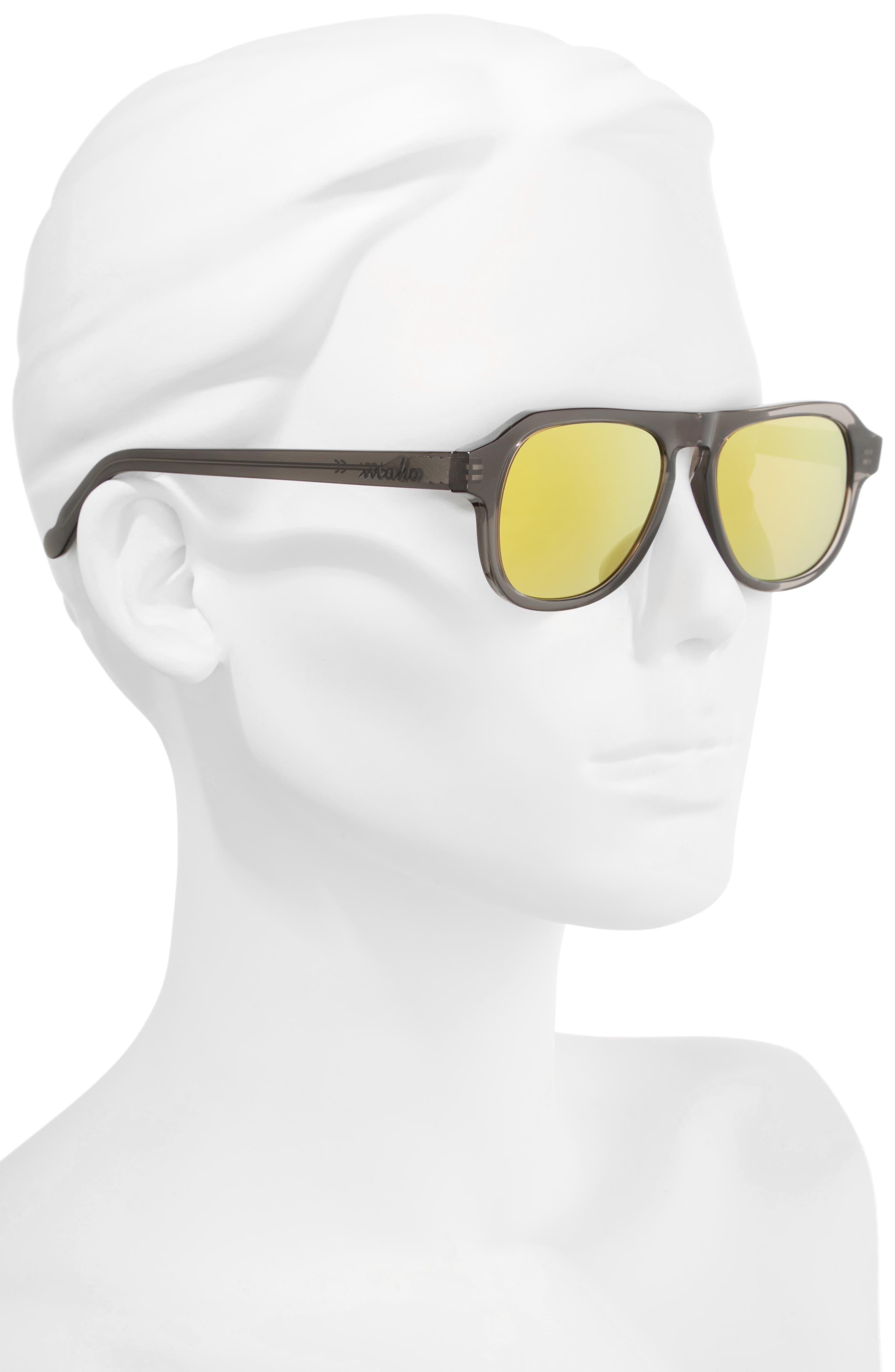 Galapagos 48mm Polarized Flat Top Sunglasses,                             Alternate thumbnail 2, color,                             020