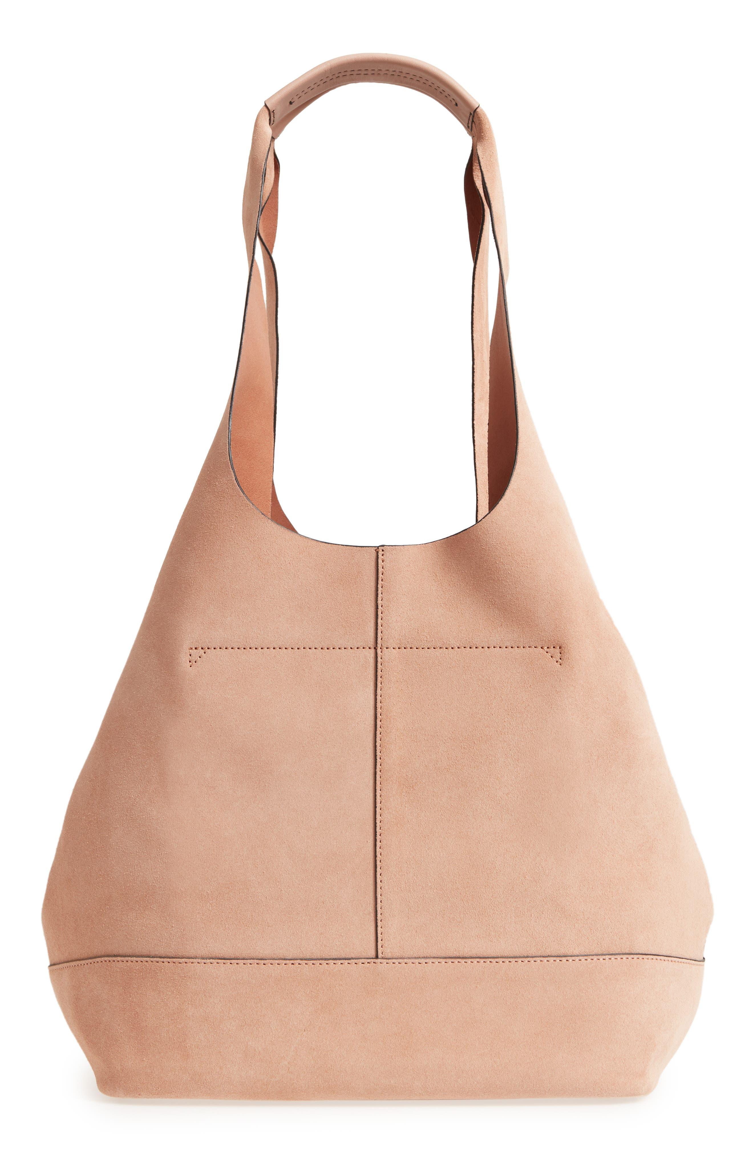 Camden Shopper Bag,                             Alternate thumbnail 3, color,                             NUDE SUEDE