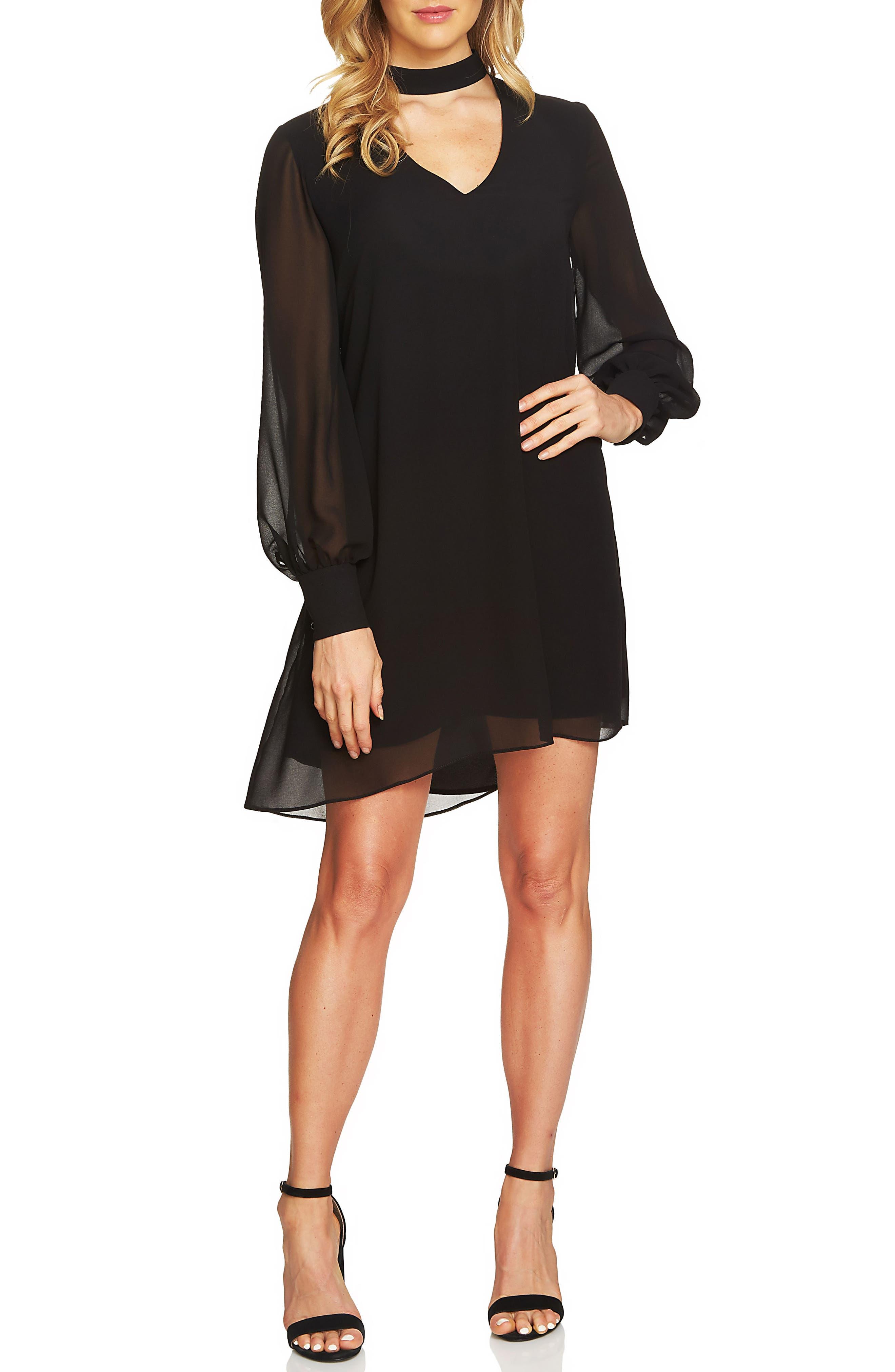 Zoey Choker Shift Dress,                         Main,                         color, 010