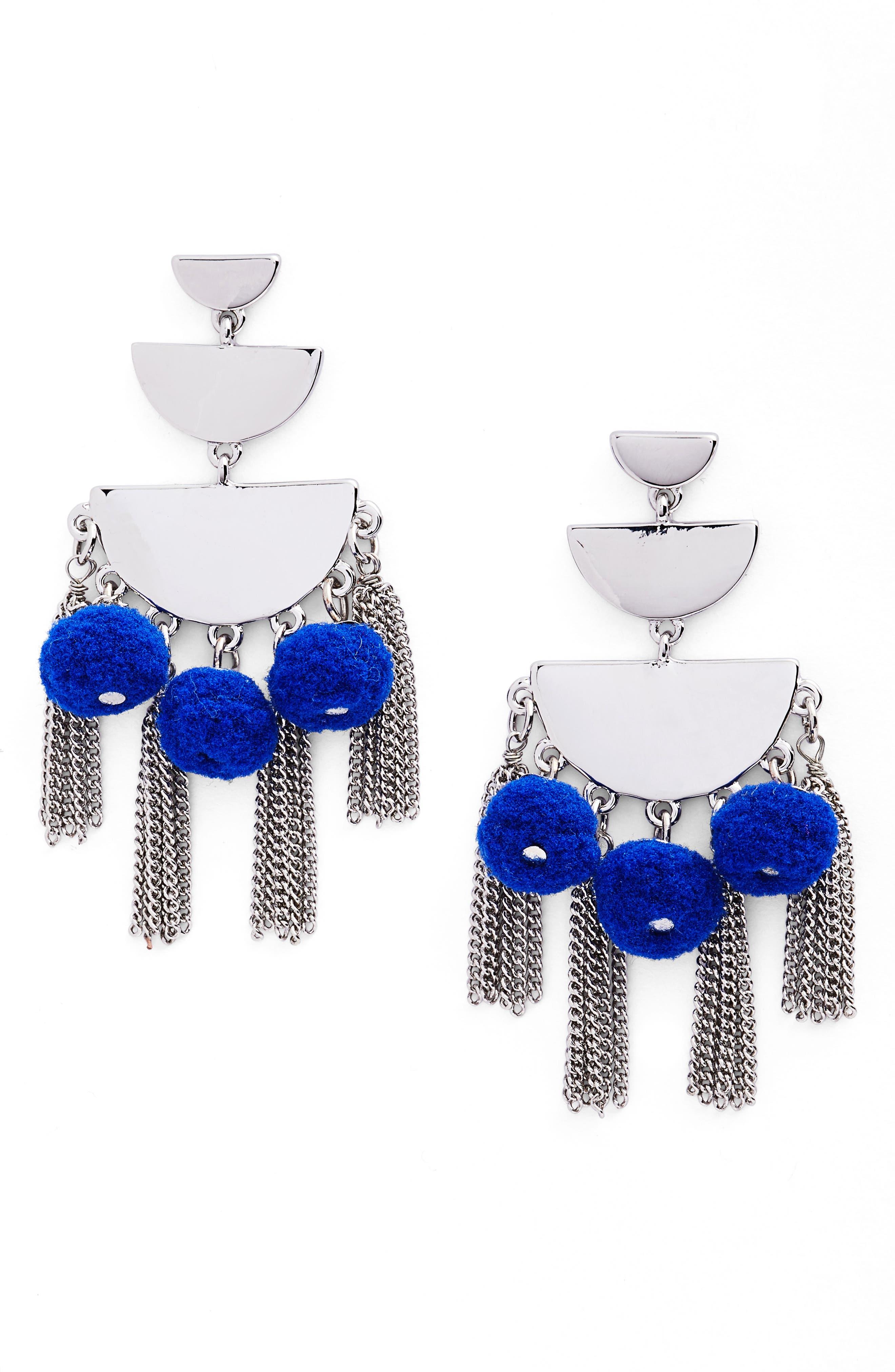 Triple Tier Chandelier Earrings,                         Main,                         color, 400