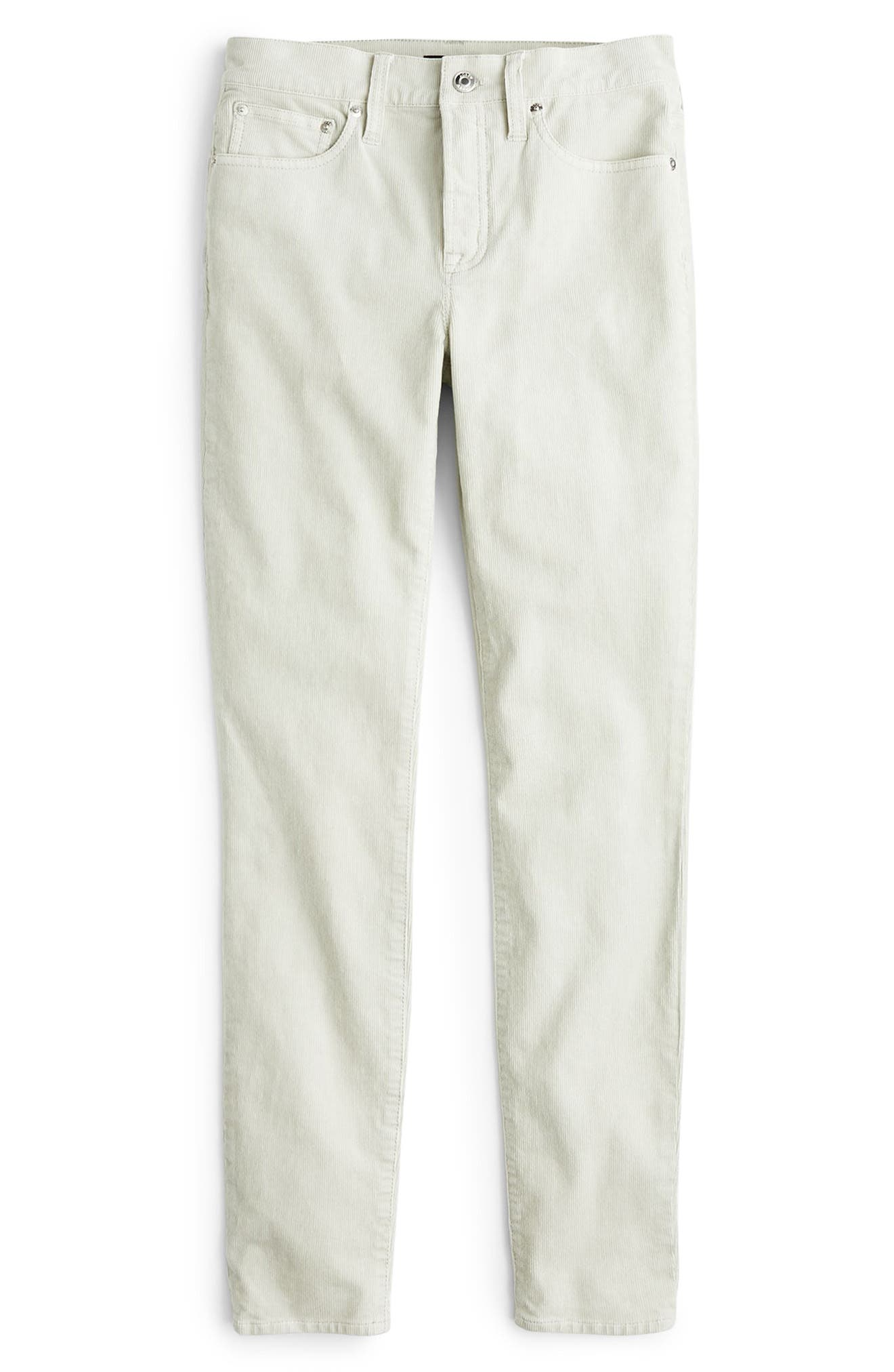 High Rise Toothpick Corduroy Jeans in Stone