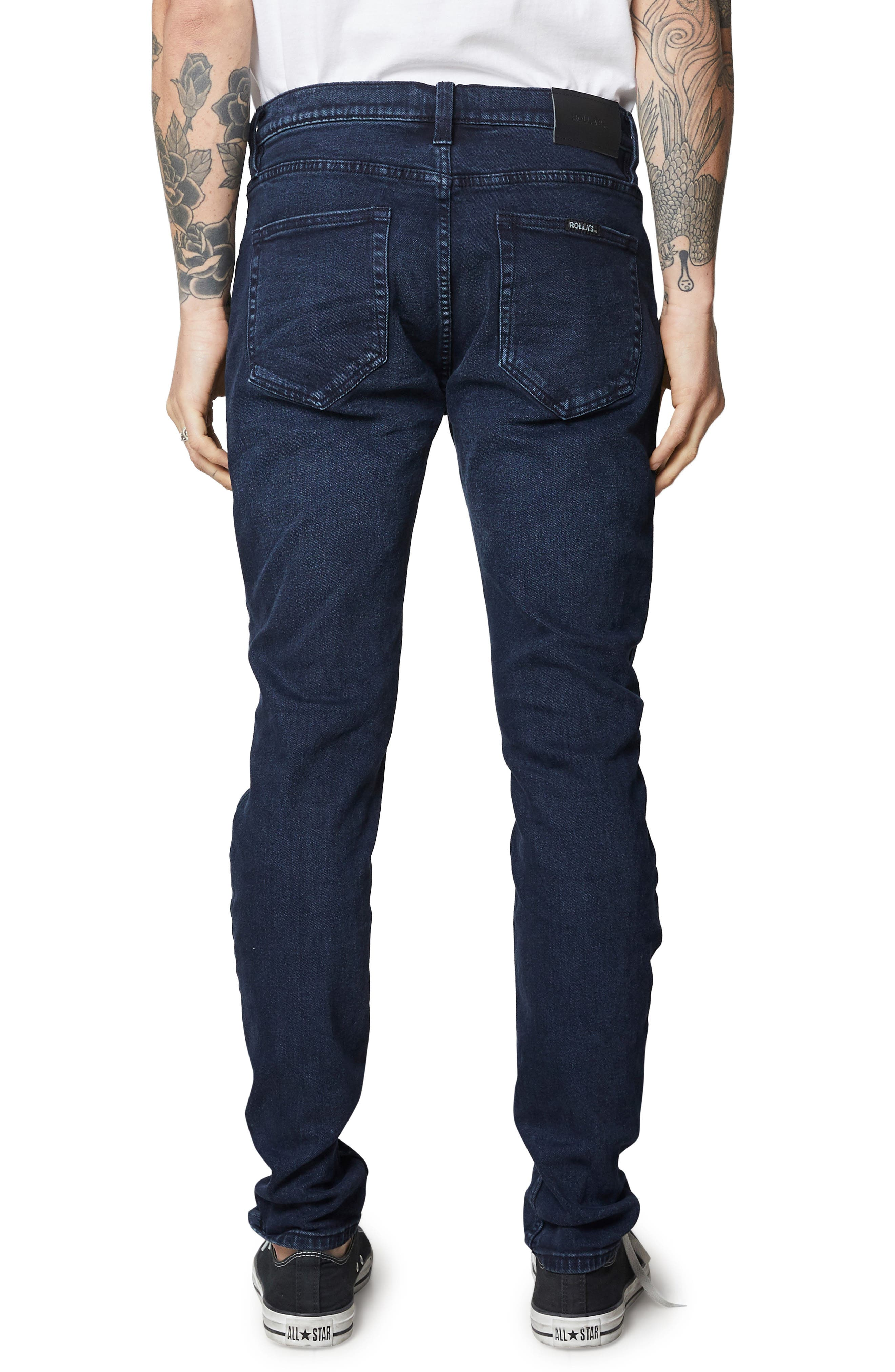 Stinger Skinny Fit Jeans,                             Alternate thumbnail 2, color,                             STONE FREE BLACK