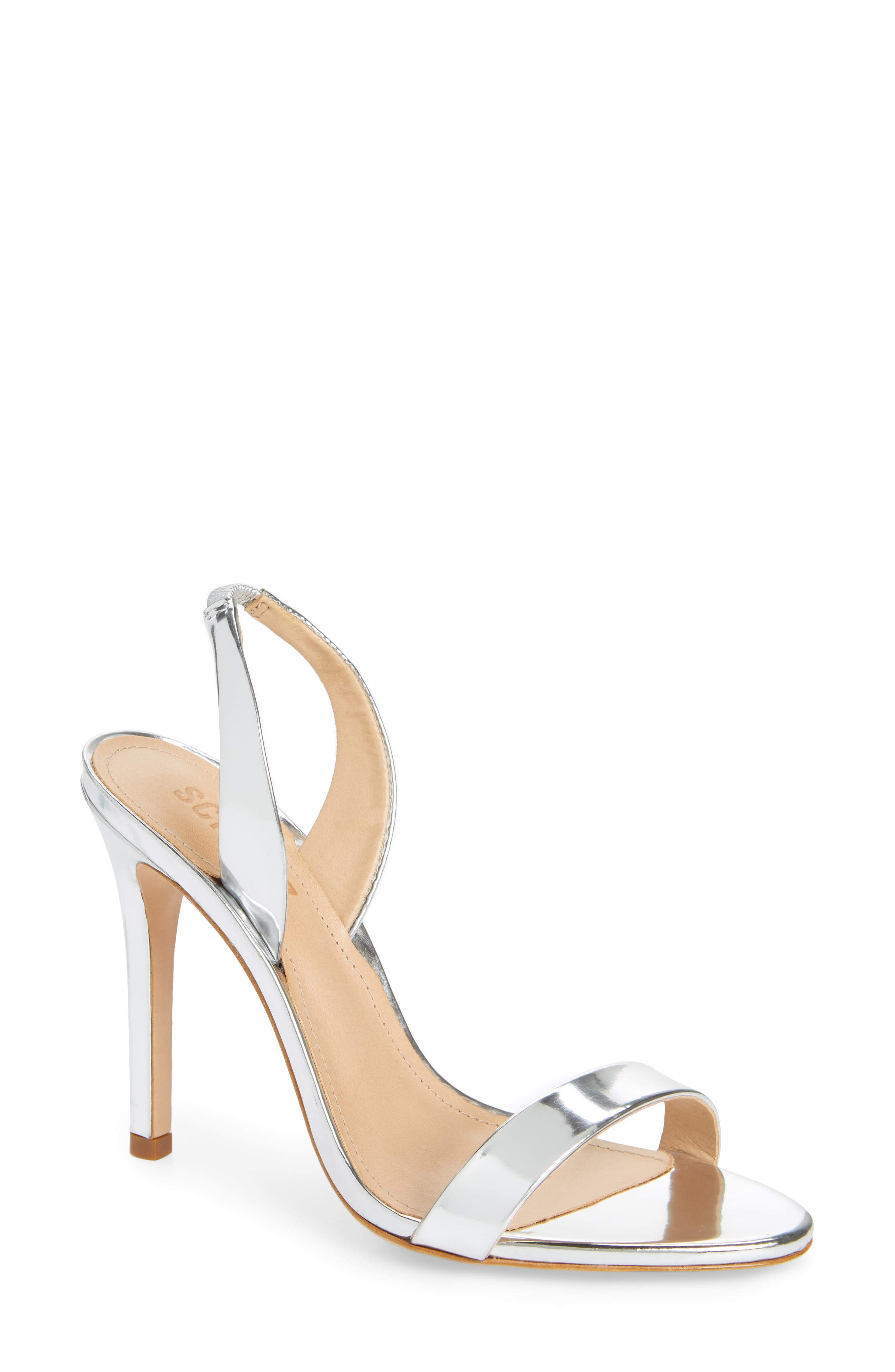 Luriane Sandal,                             Main thumbnail 1, color,                             SILVER PATENT LEATHER