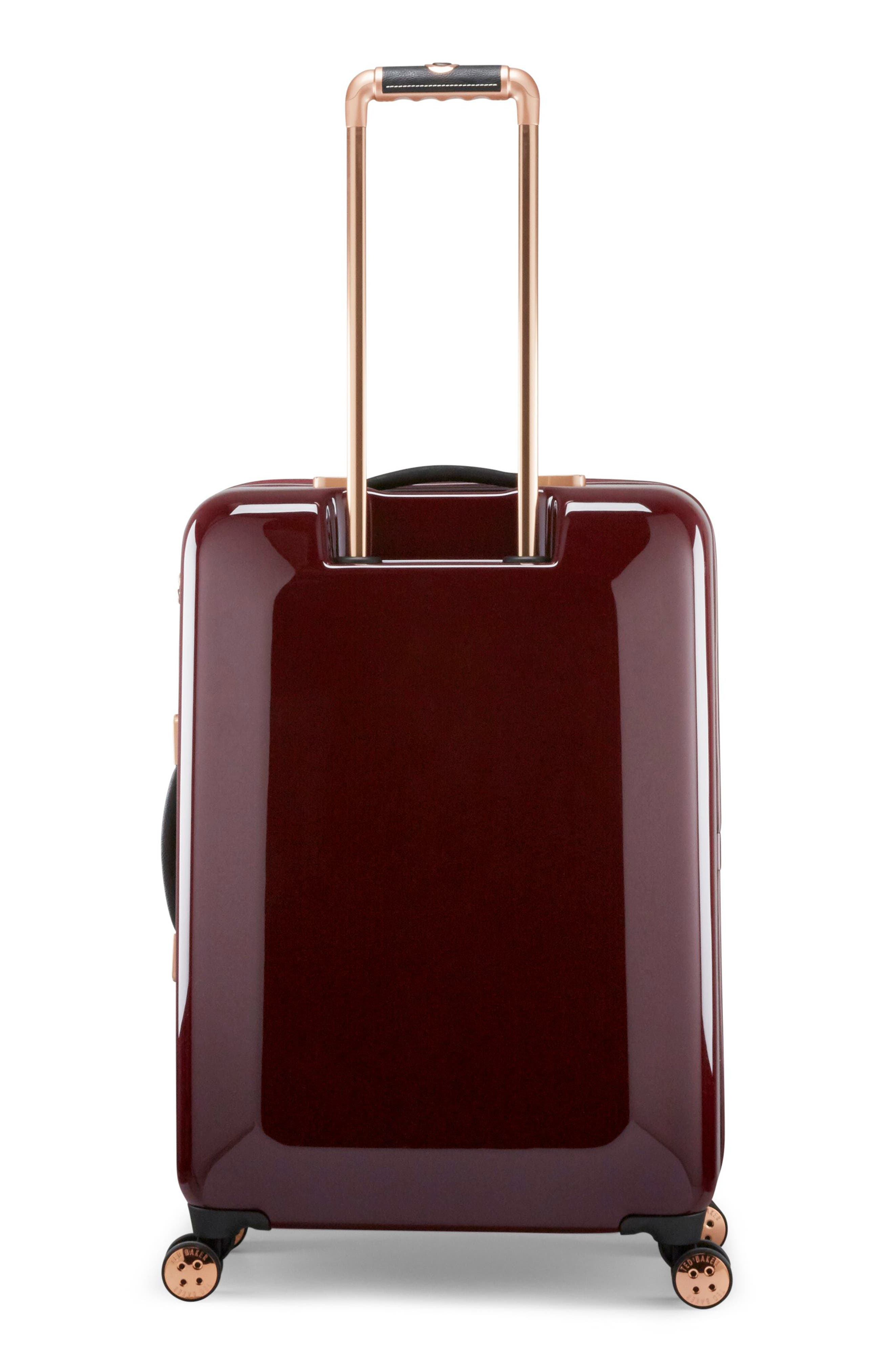 Medium Porcelain Rose 27-Inch Hard Shell Spinner Suitcase,                             Alternate thumbnail 4, color,                             930
