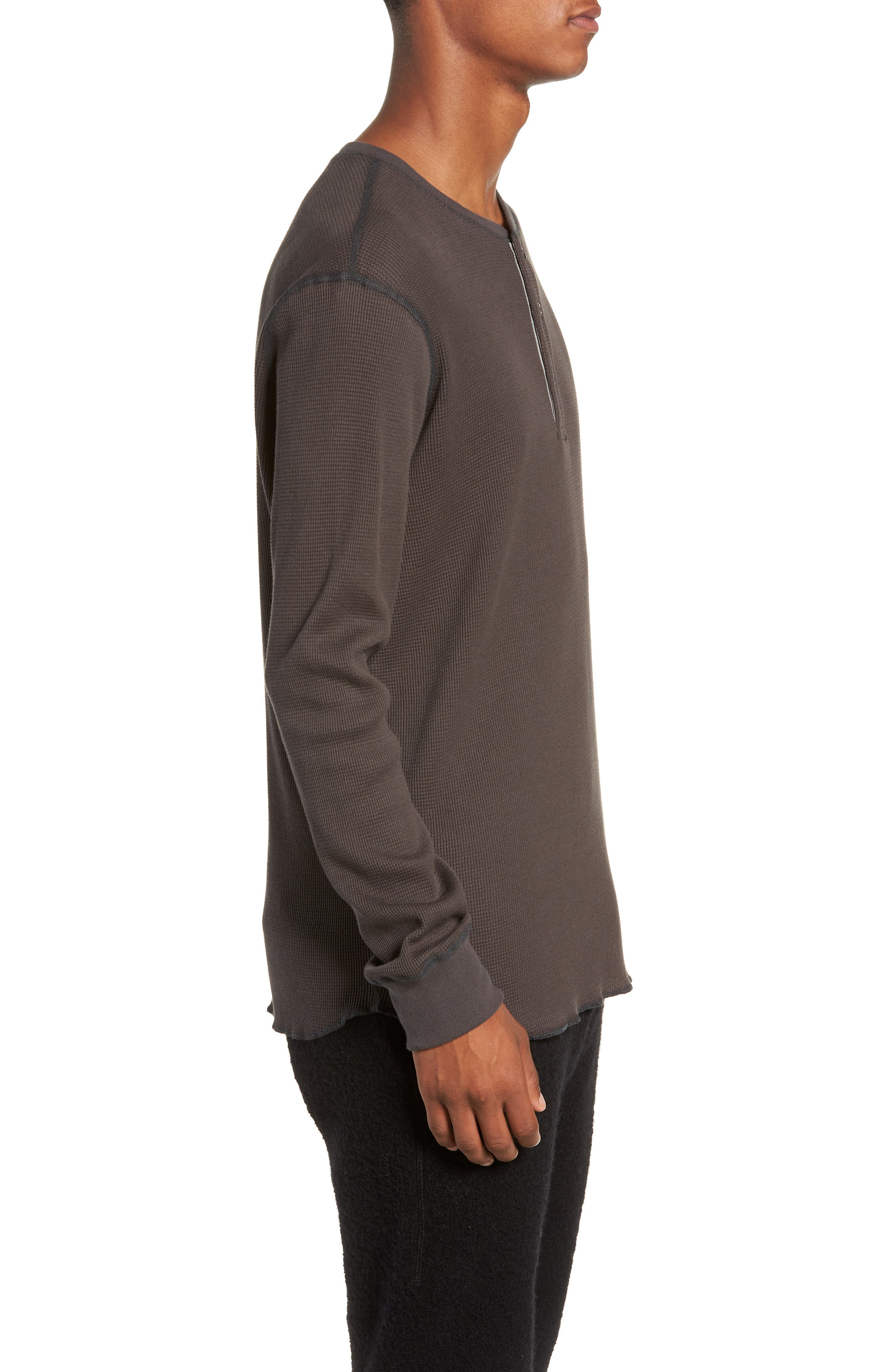 WINGS + HORNS,                             Long Sleeve Thermal Henley,                             Alternate thumbnail 3, color,                             STONE