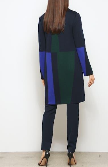 Colorblock Intarsia Wool Twill Jacket, video thumbnail
