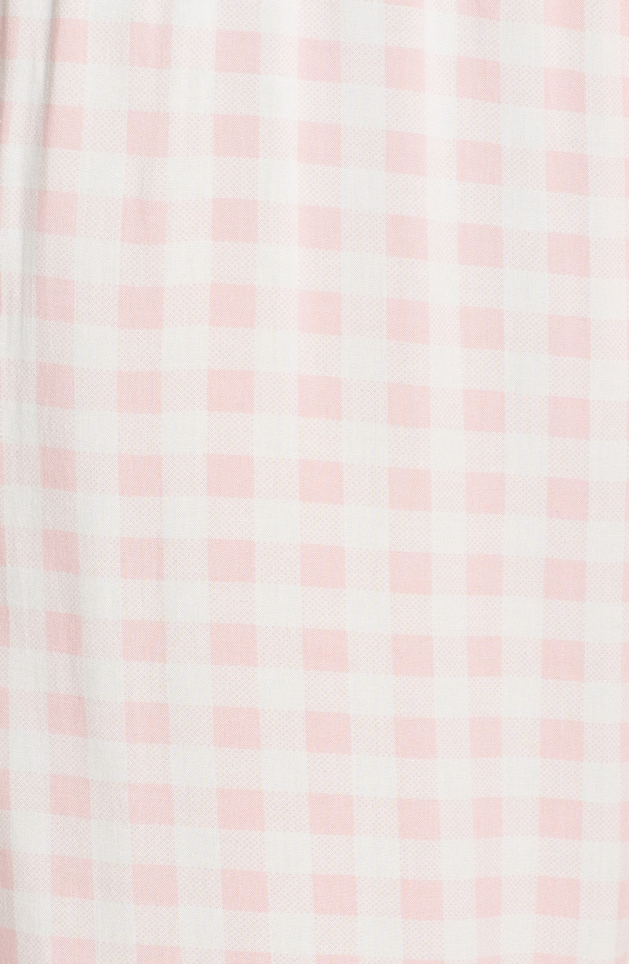 Gingham Pajama Pants,                             Alternate thumbnail 5, color,