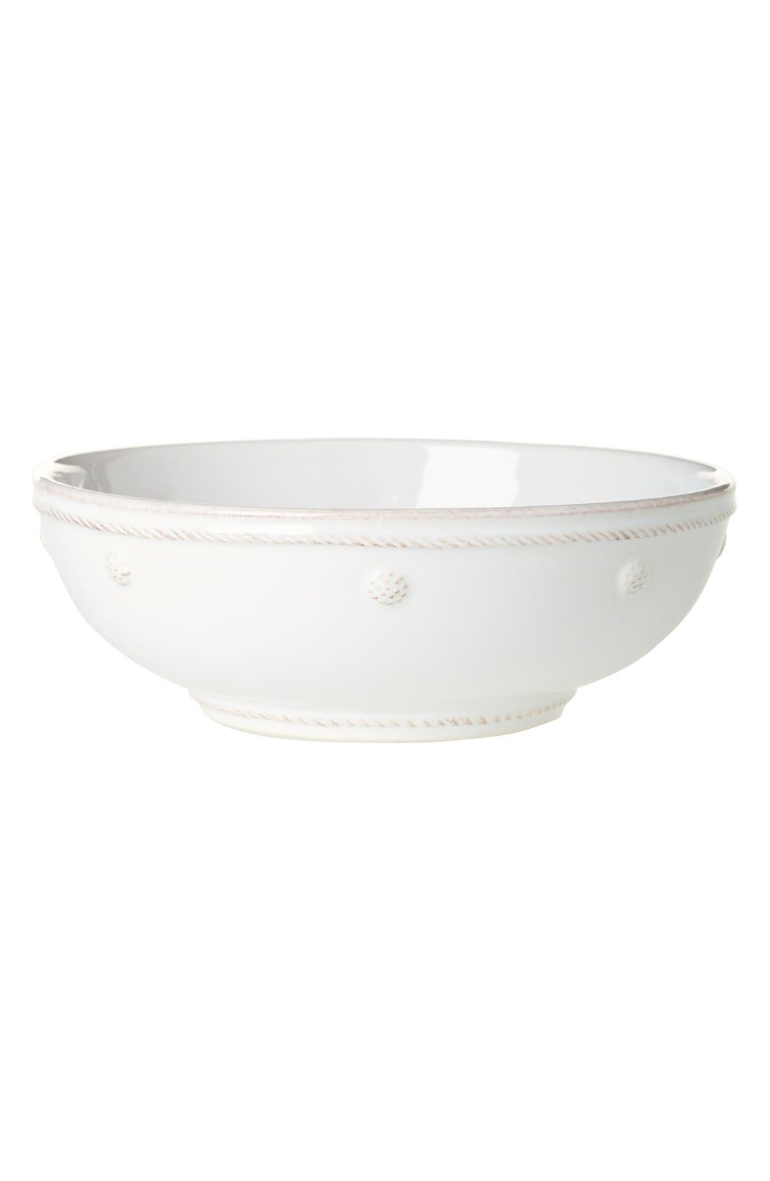 'Berry and Thread' Coupe Pasta Bowl,                             Main thumbnail 1, color,                             WHITEWASH
