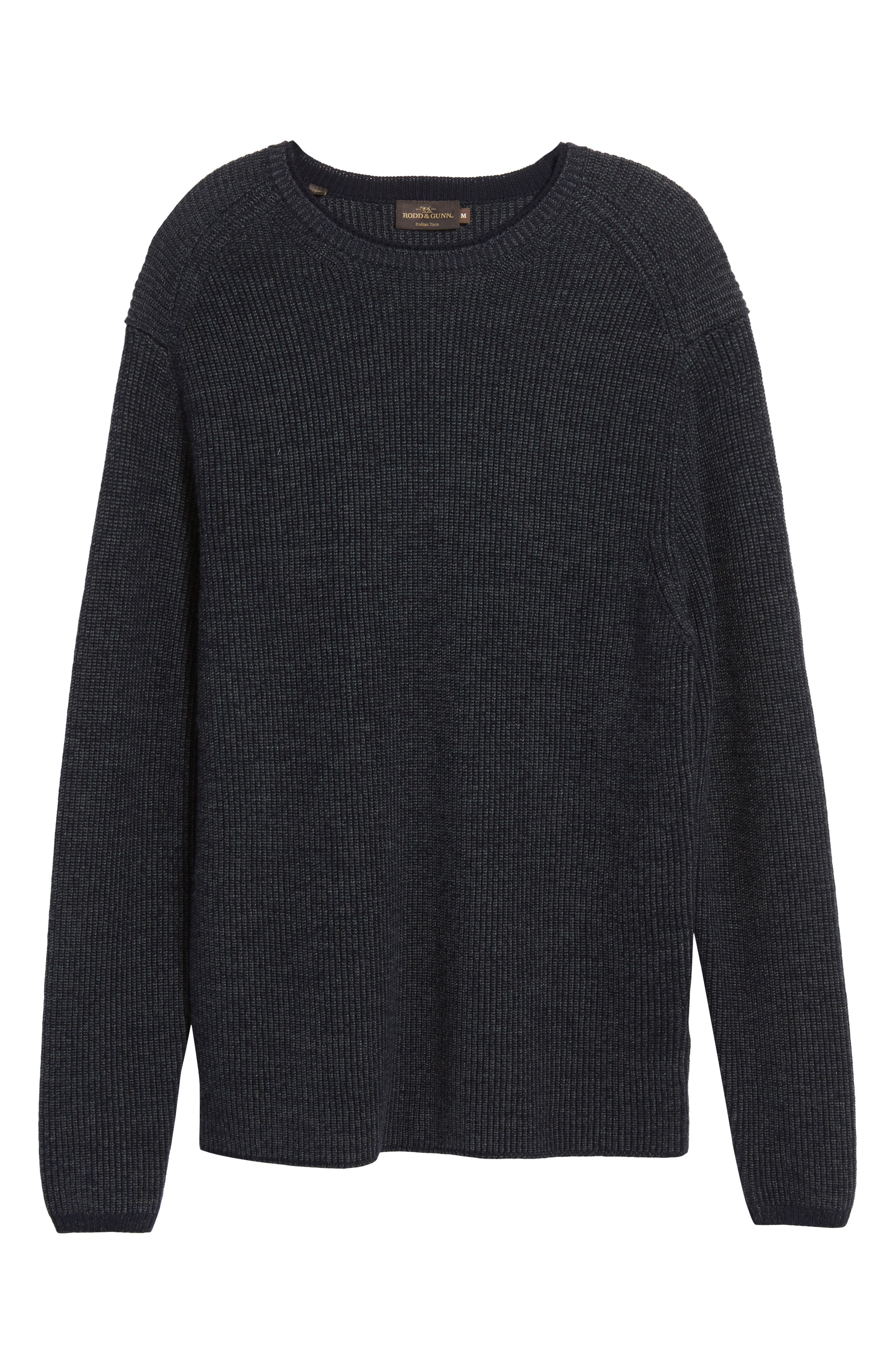 Whalers Bay Ribbed Merino Wool Sweater,                             Alternate thumbnail 6, color,                             470