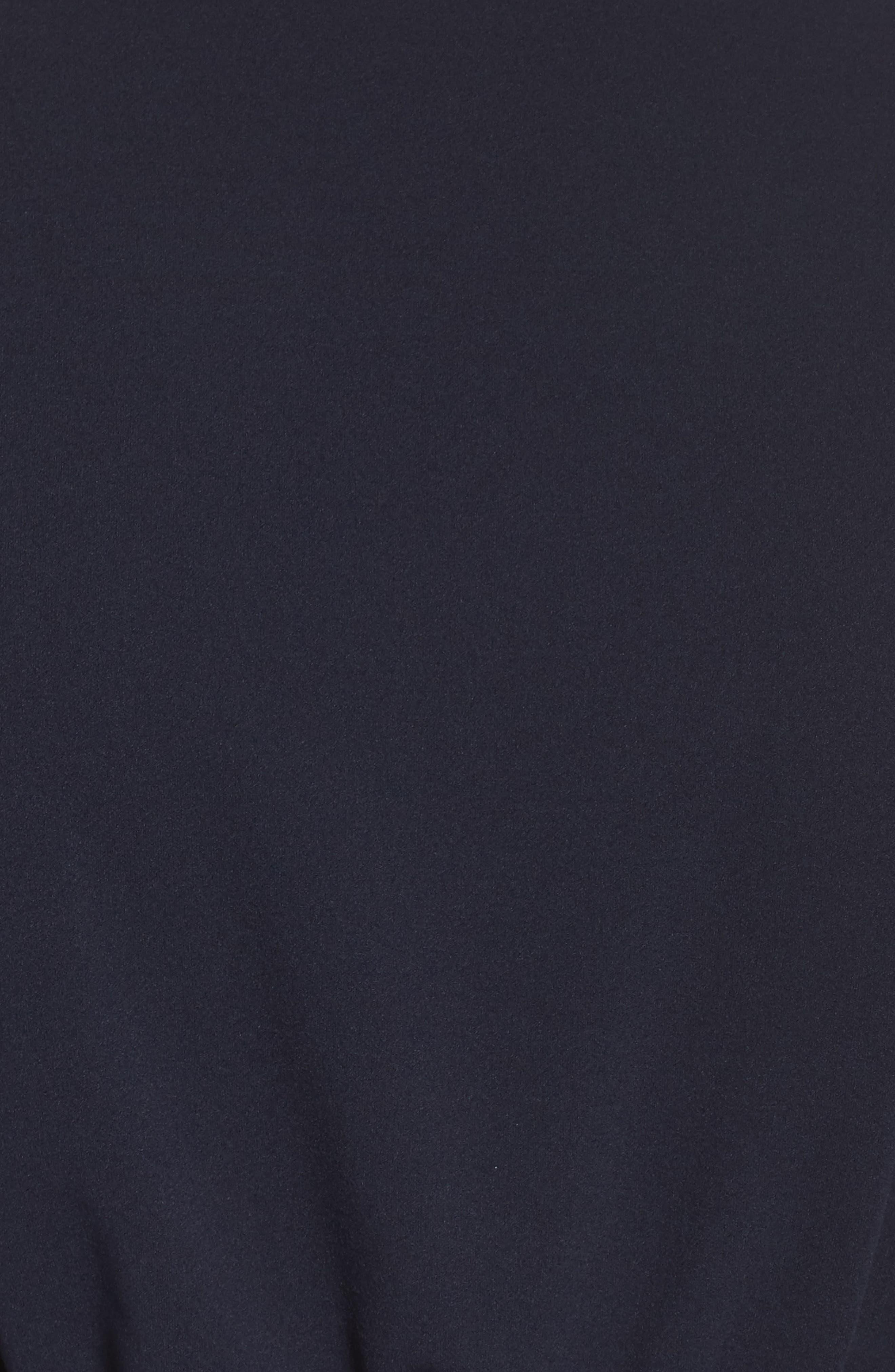 Flutter Sleeve Crepe Jumpsuit,                             Alternate thumbnail 5, color,                             412