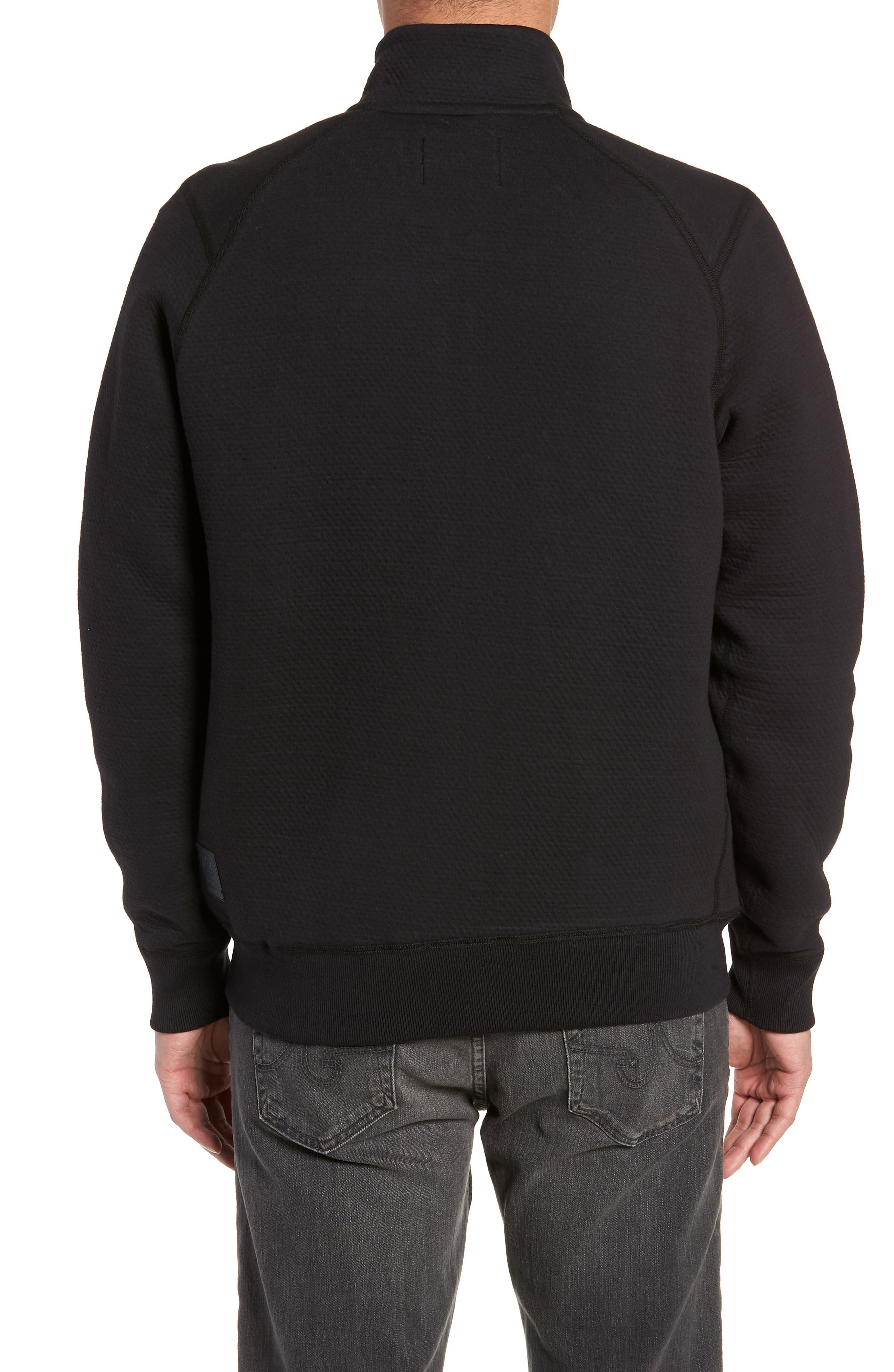 Cabin Fleece Jacket,                             Alternate thumbnail 2, color,                             BLACK