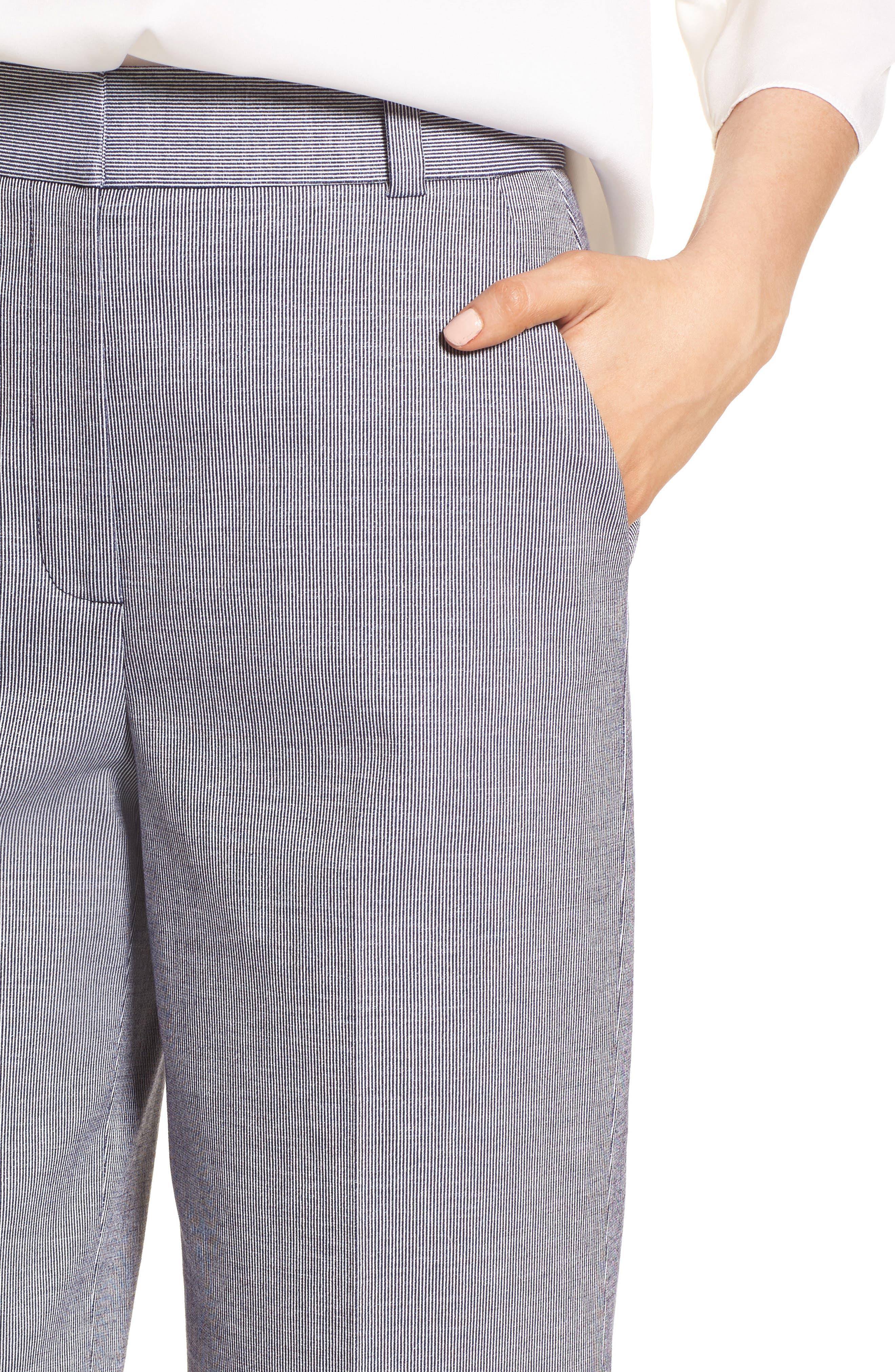 Ticking Stripe Pants,                             Alternate thumbnail 4, color,                             401