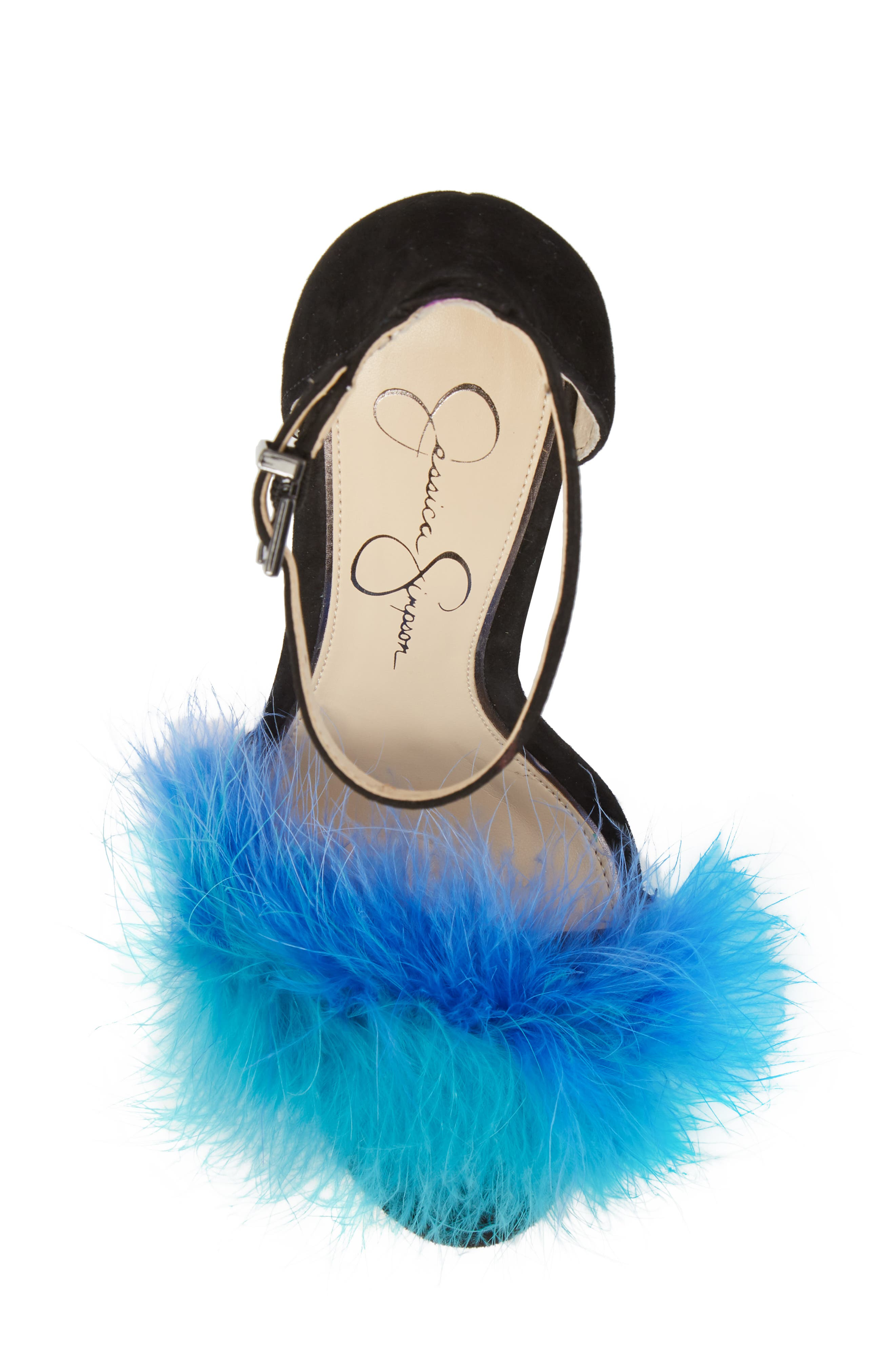 Jesaphine Feathered Sandal,                             Alternate thumbnail 5, color,                             460