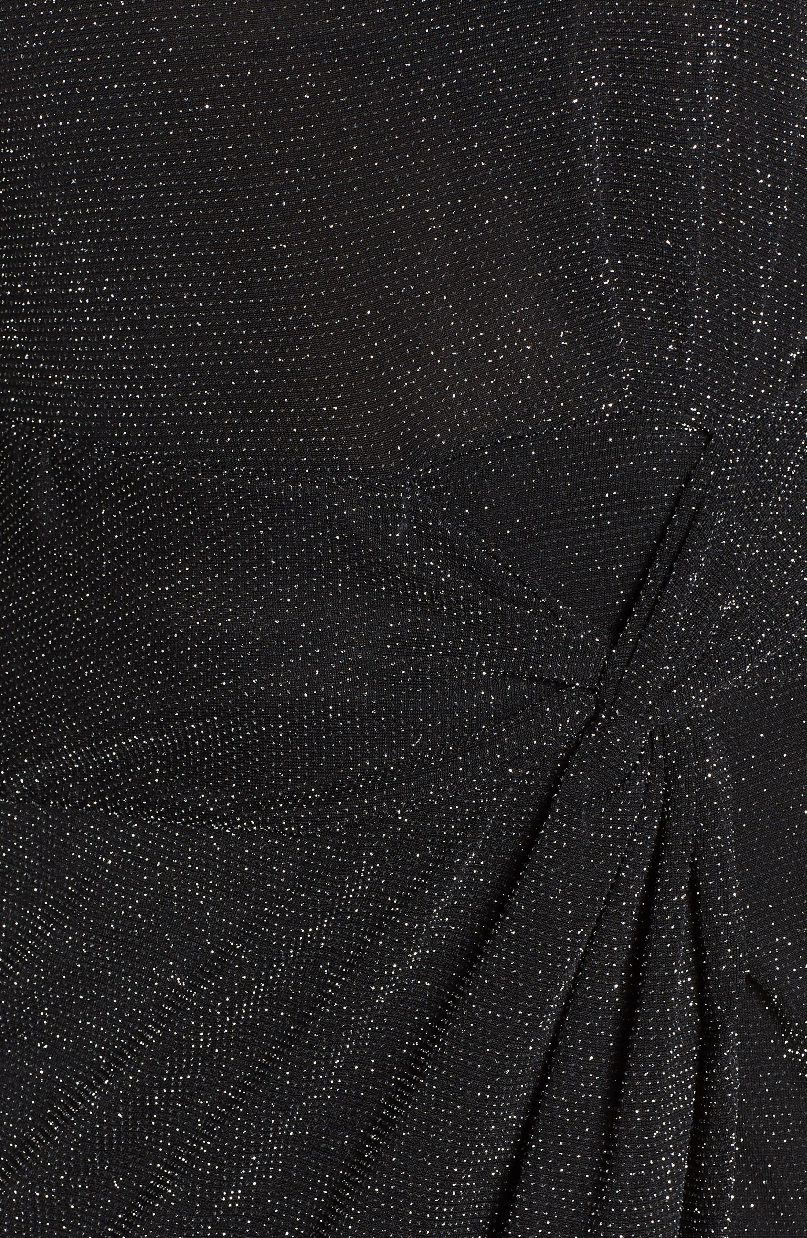 Side Twist Mock Neck Dress,                             Alternate thumbnail 6, color,                             040