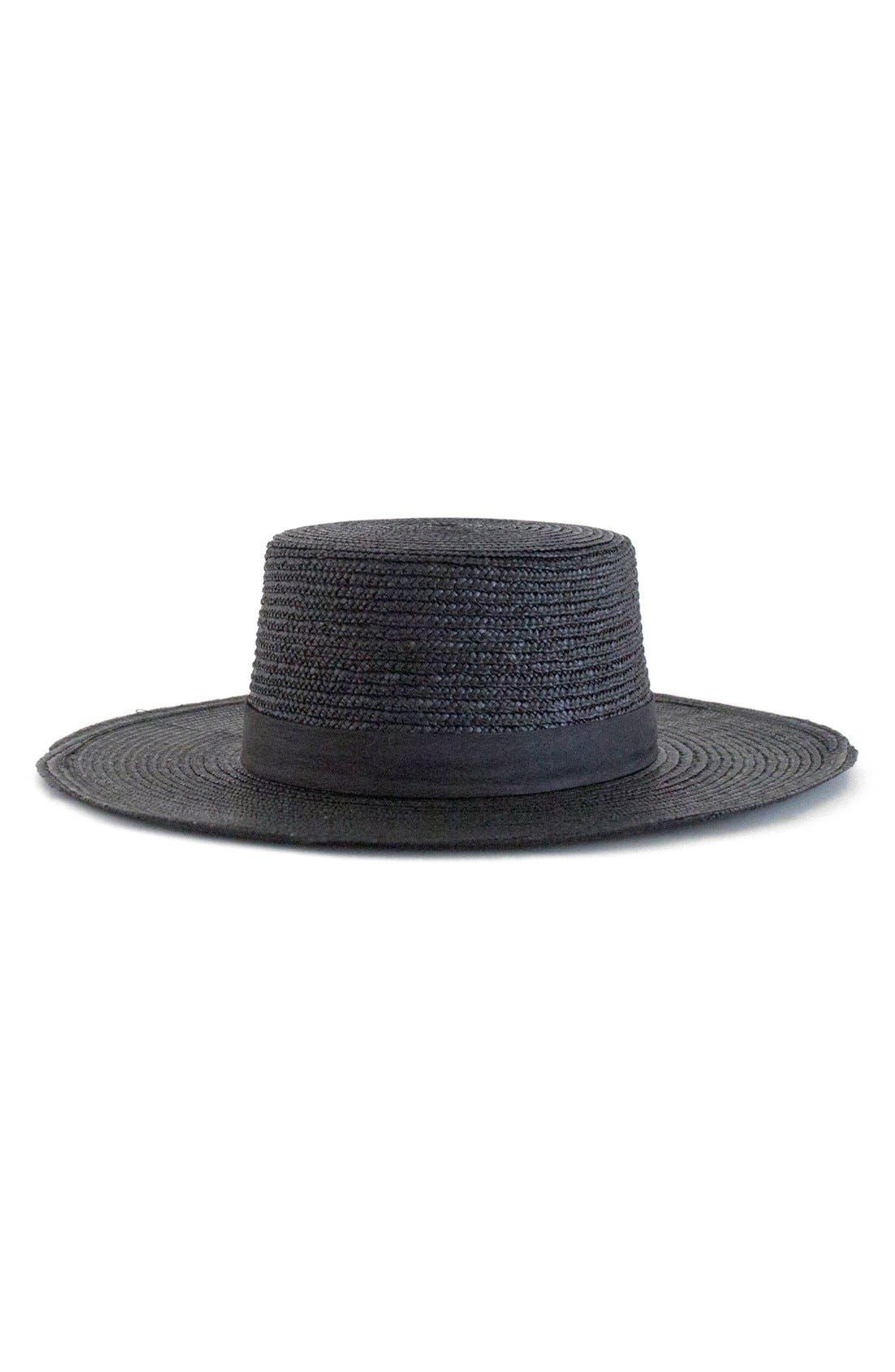 'Calla' Straw Bolero Hat,                             Main thumbnail 1, color,                             001