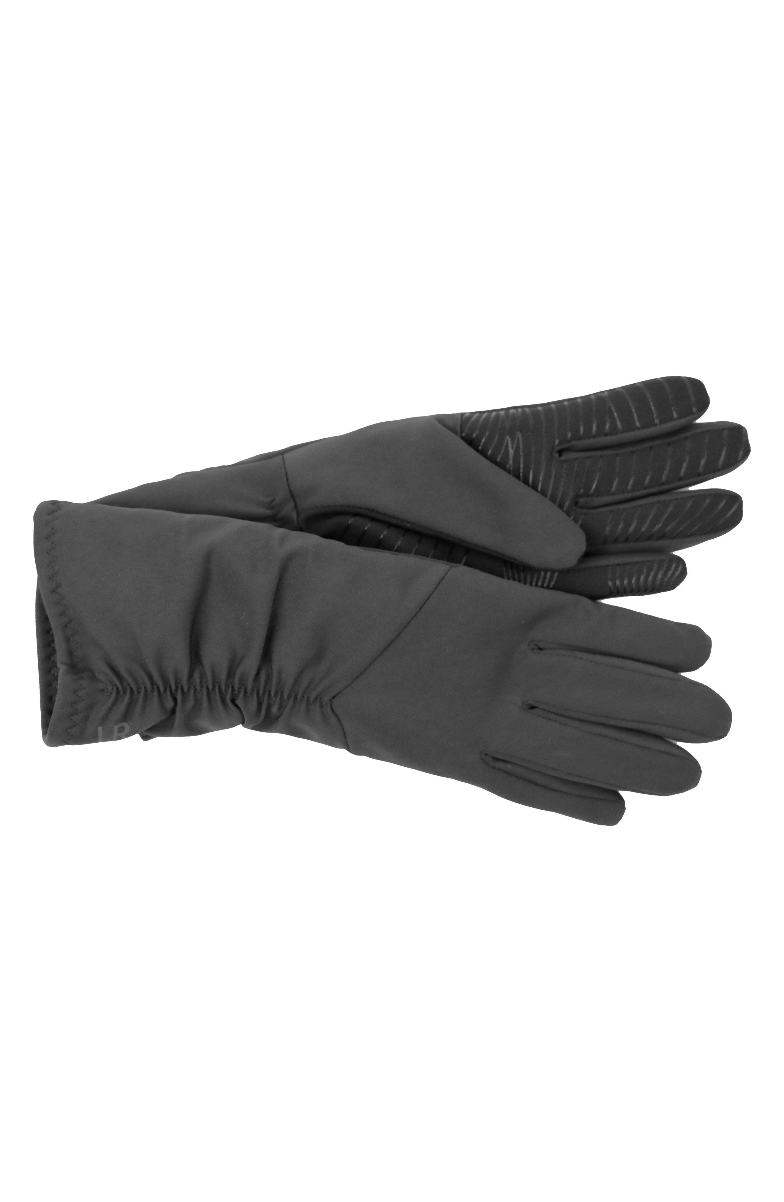 Ruched Stretch Tech Gloves,                             Alternate thumbnail 4, color,