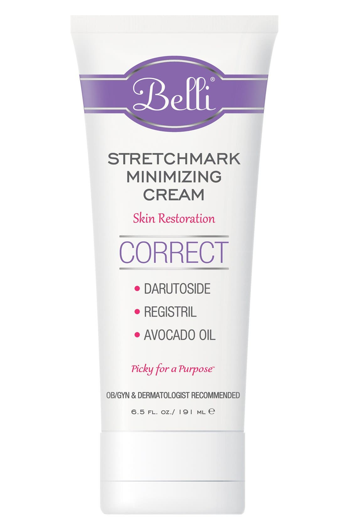 Stretchmark Minimizing Cream for Skin Restoration,                         Main,                         color, WHITE