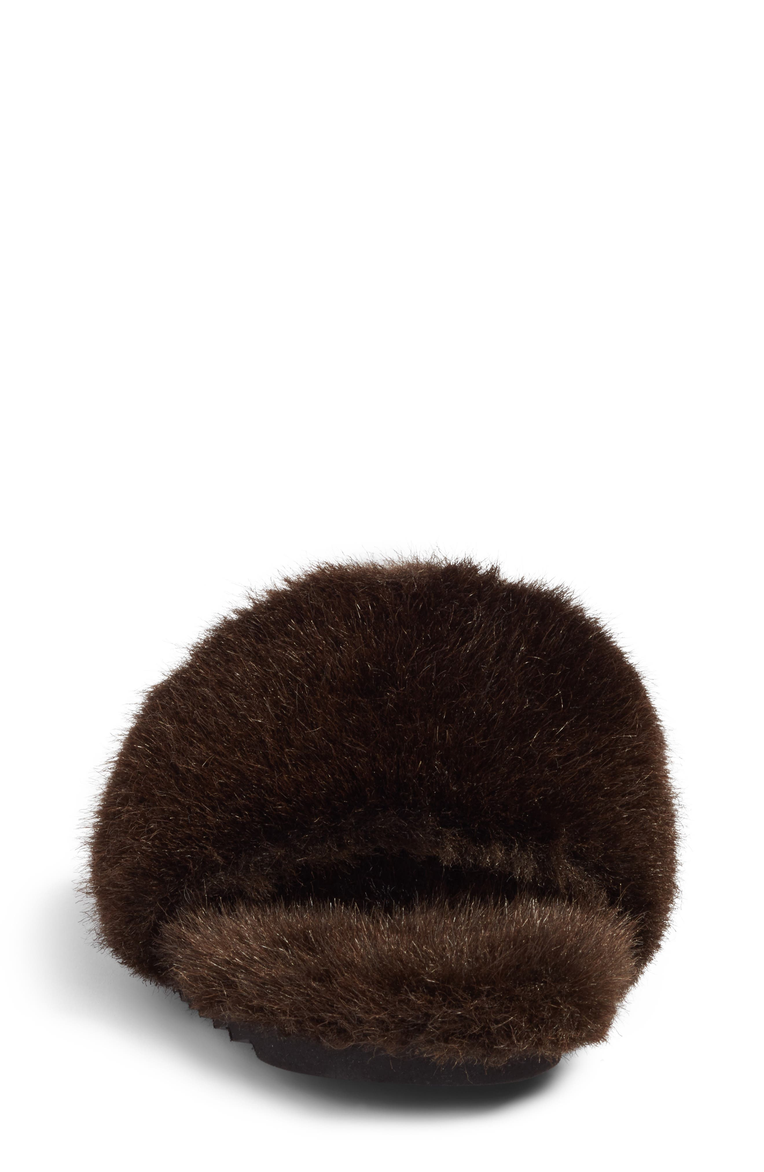Faux Fur Slide Sandal,                             Alternate thumbnail 4, color,                             200